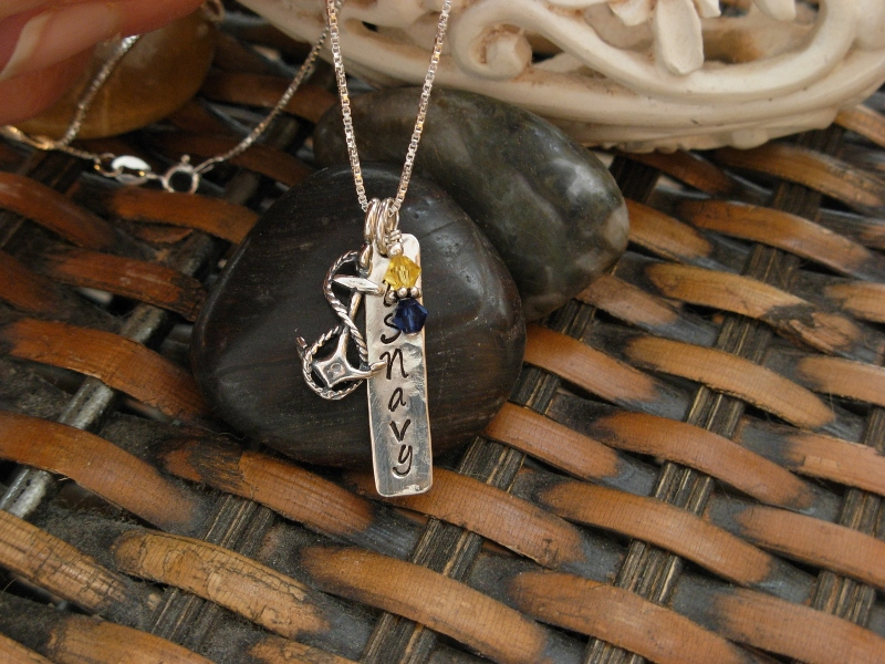 US NAVY TAB NECKLACE