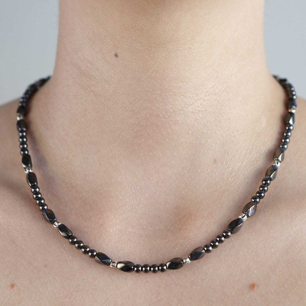Twist Metal Bead #32 Necklace or Choker