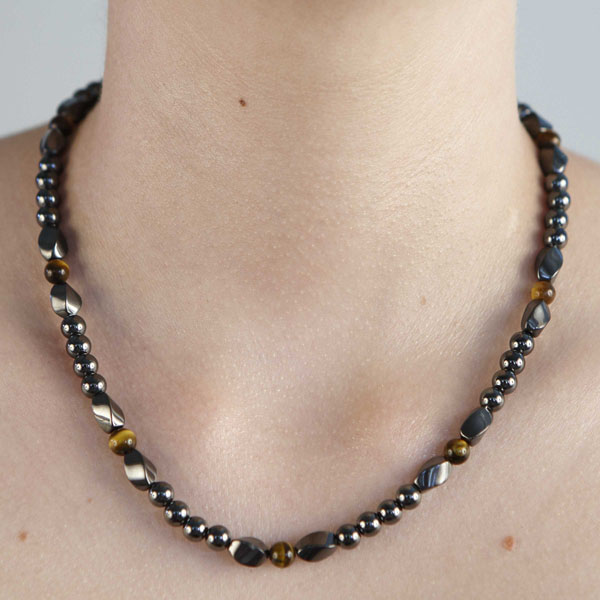 Twist - Tiger Eye Necklace or Choker