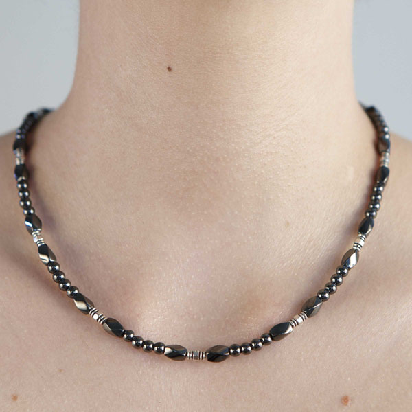 Twist - Metal Bead #9 Necklace or Choker