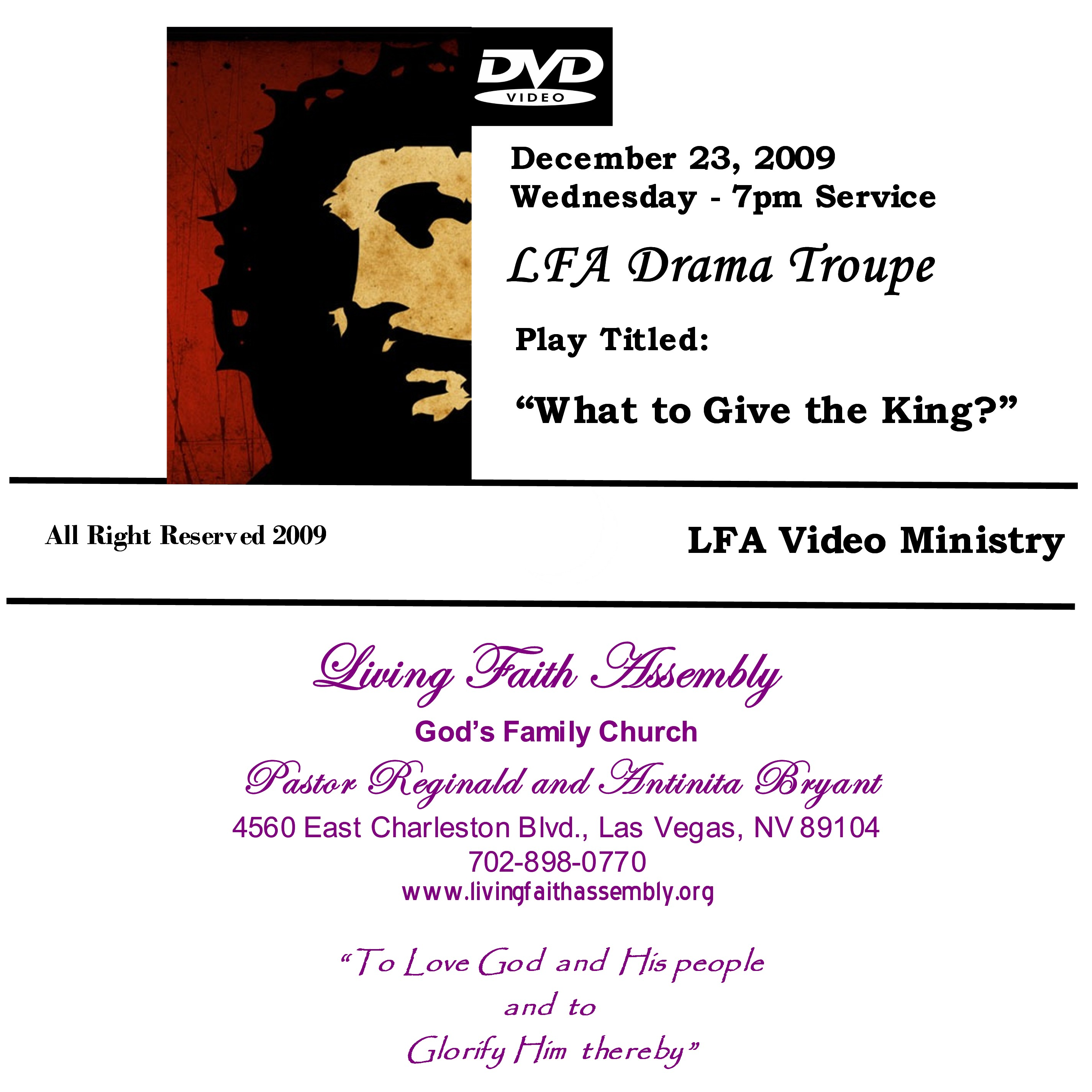 "Christmas Play: ""What To Give A King"" - DVD"