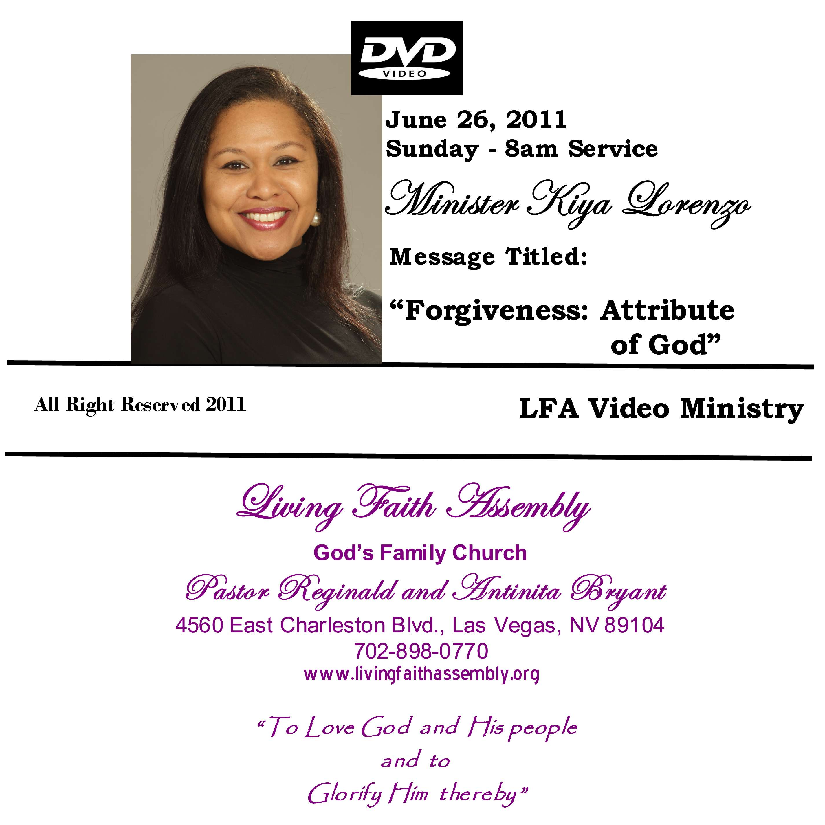Forgiveness: Attribute of God - DVD