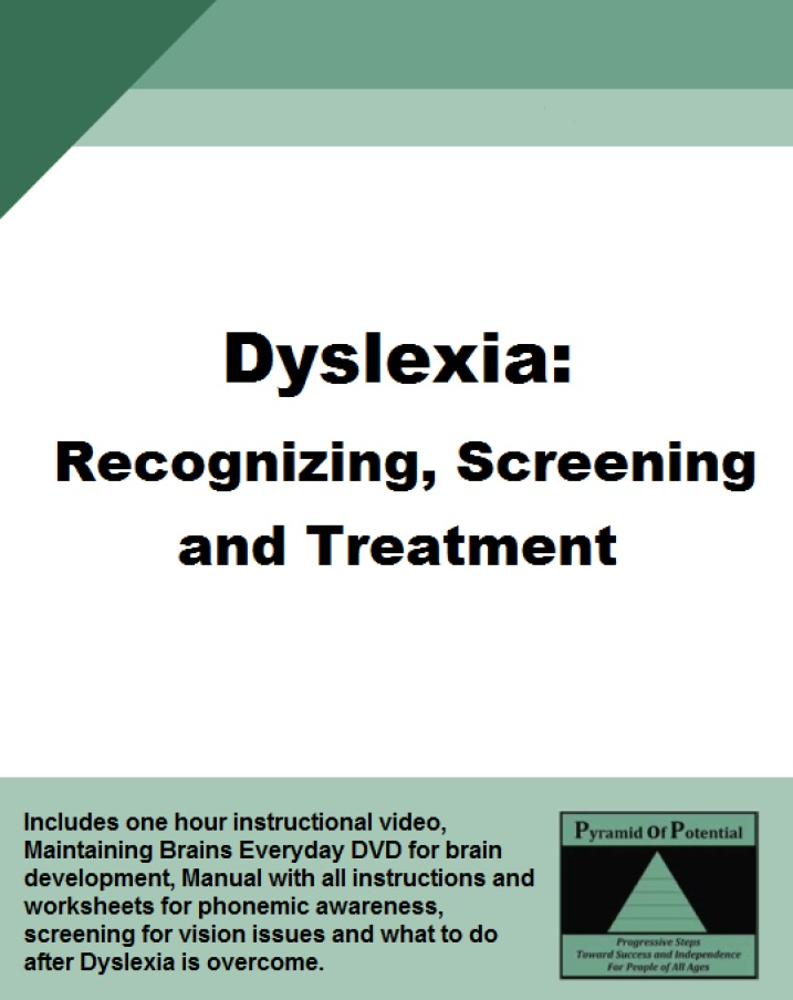 *ON SALE NOW* Dyslexia: Recognizing, Screening & Treating