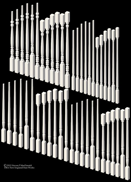 Wood Baluster Set 1-2016