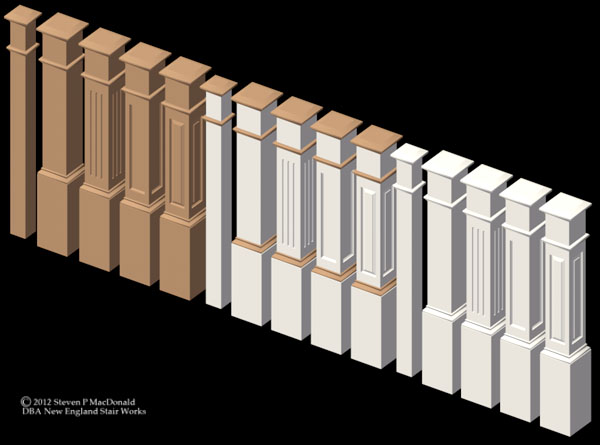 Box Newel Set 1-2016