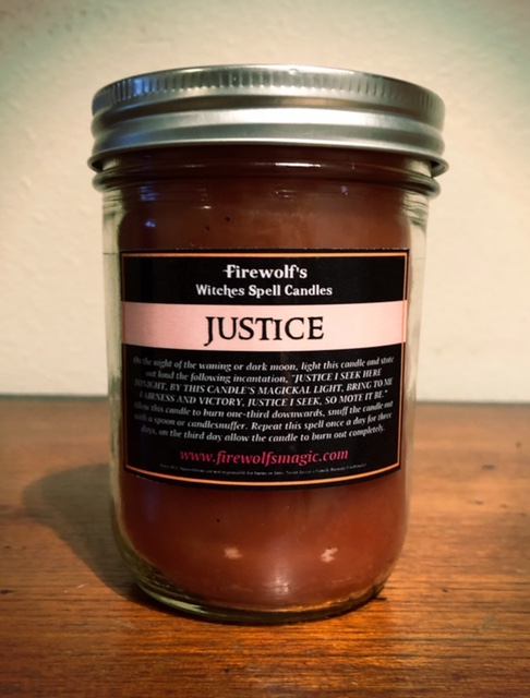 JUSTICE CANDLE