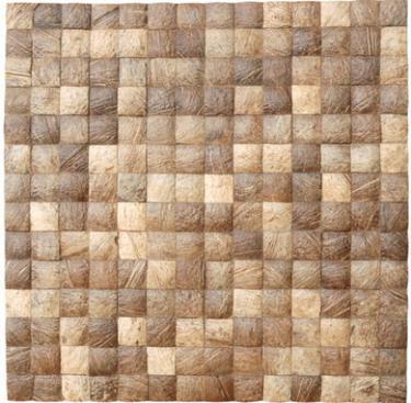 "17""X17"" Cocomosaic tiles - Natural Grain (6 tiles=box) Free Shipping"