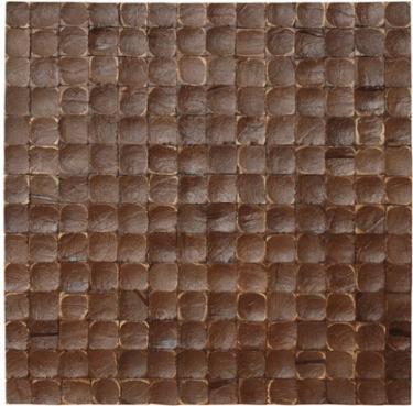 17X17 Inch Cocomosaic tiles - Espresso luster (6 tiles=box)