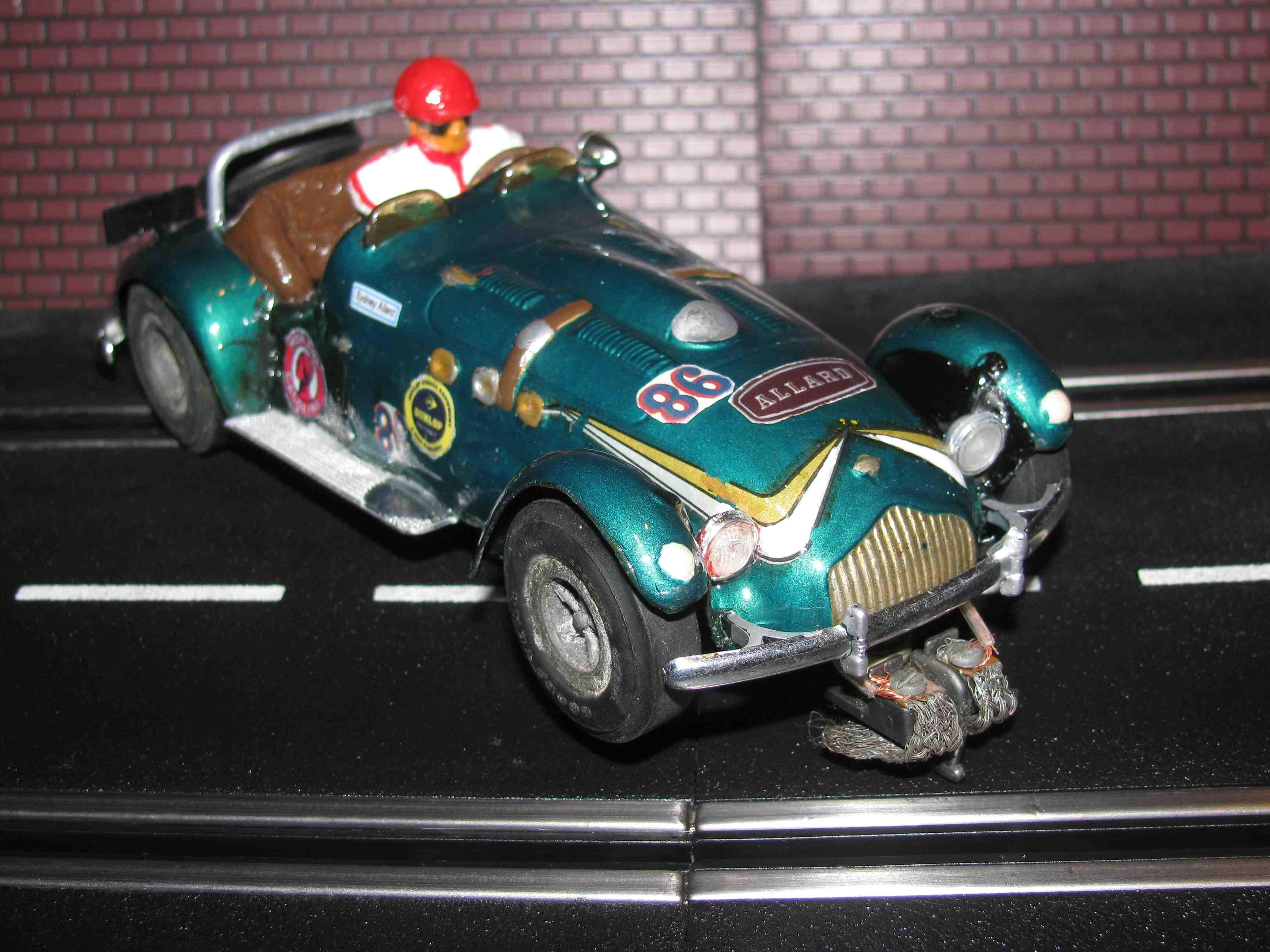 * SOLD * 1954 ALLARD J2X SLOT CAR – 1/24 Scale – Vintage Roadster
