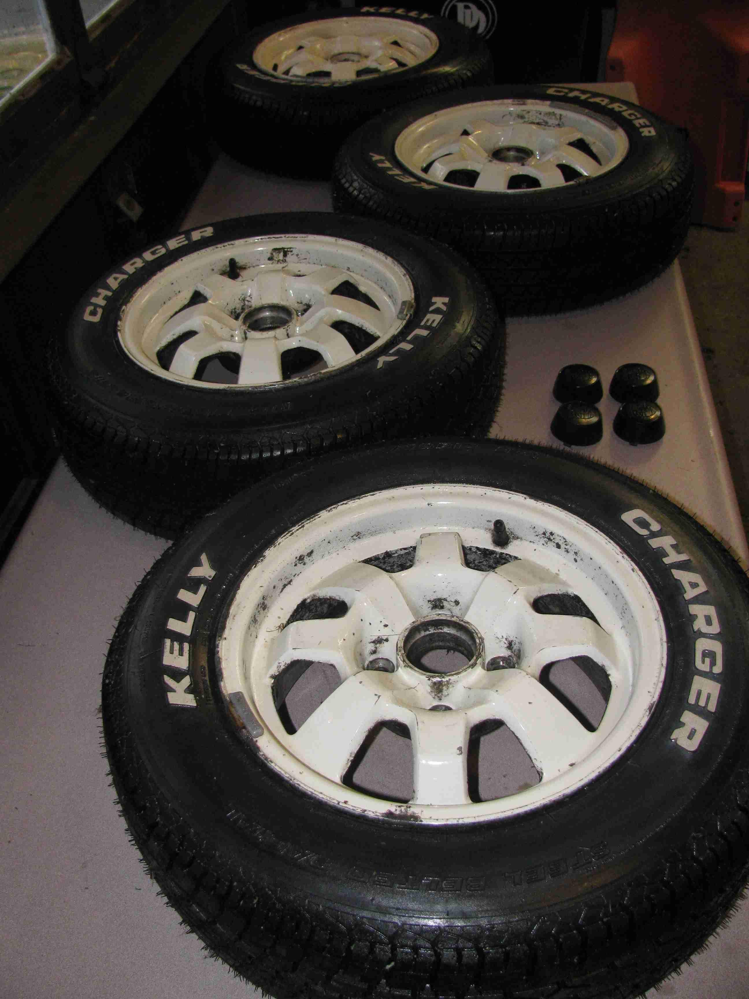"Porsche Factory Original Wheels, 14"" Set of 5 COMPLETE"