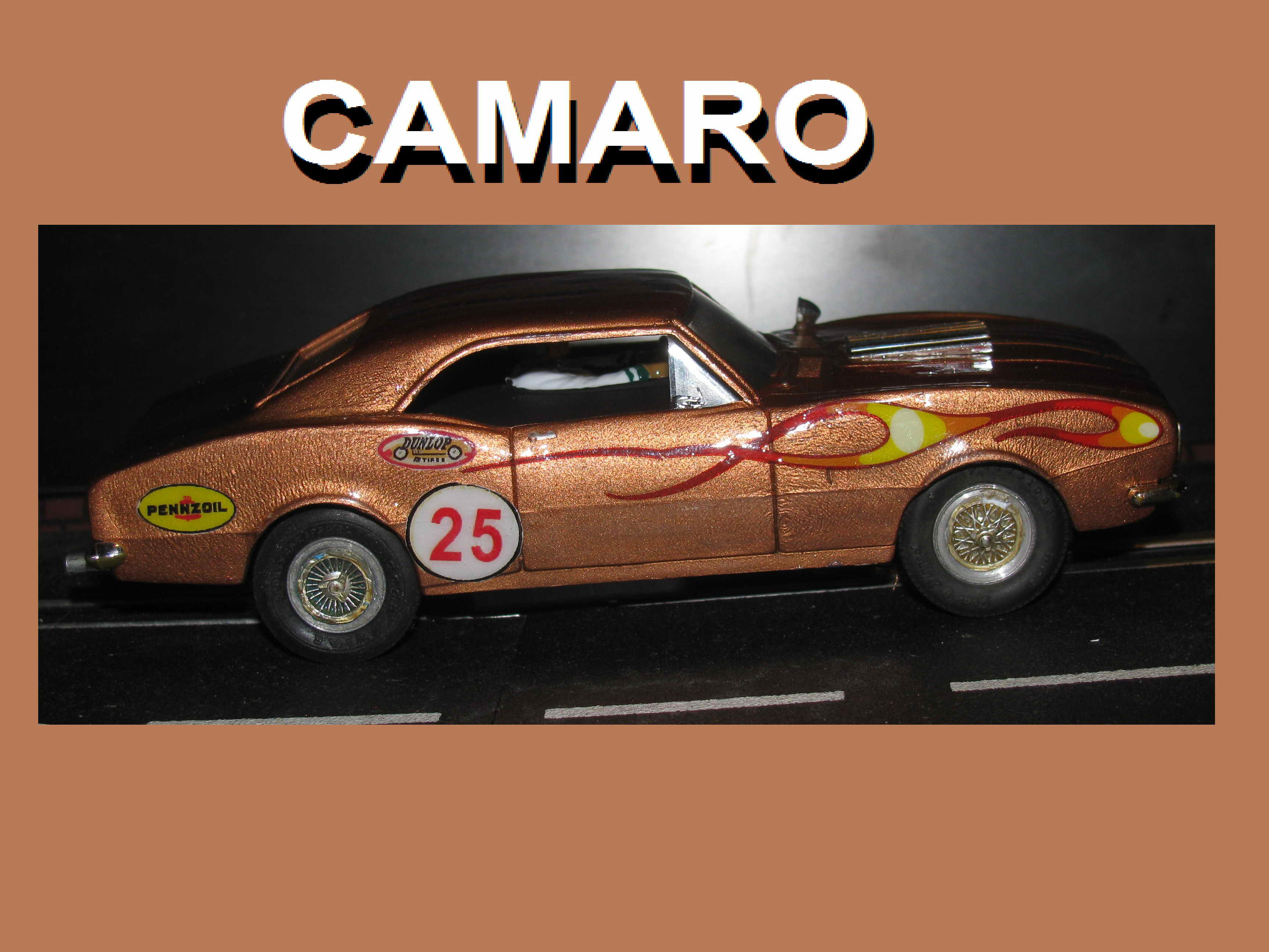 Vintage 1967 Chevy Camaro Eldon Slot Car 1/32 Scale