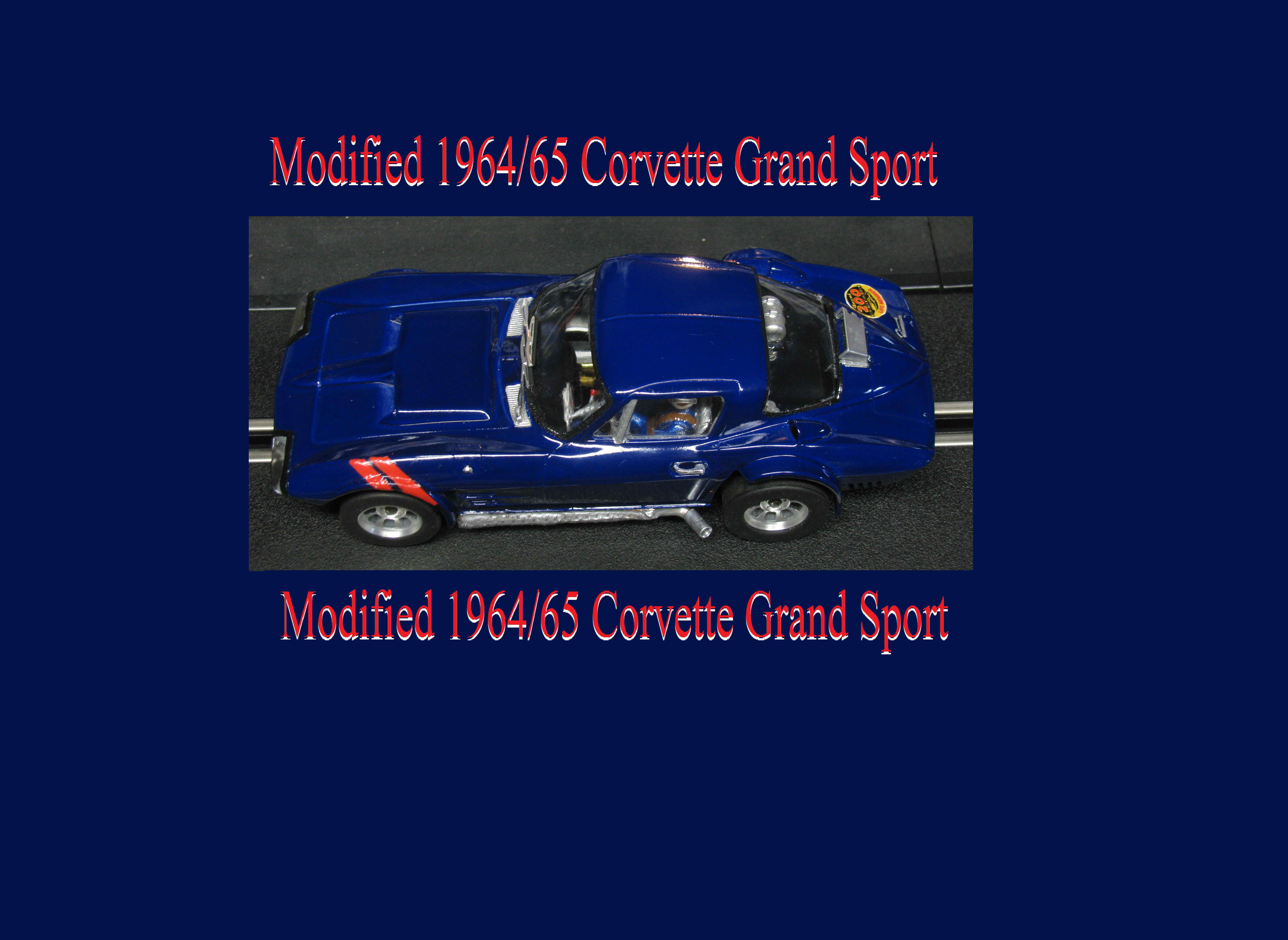 * SOLD * *RESERVED FOR CHRIS, Special Combo Price* *SALE, Normally $359 SAVE $110* Vintage 1964/65 Corvette Grand Sport slot car Bridgehampton Blue Poly 1/24 scale