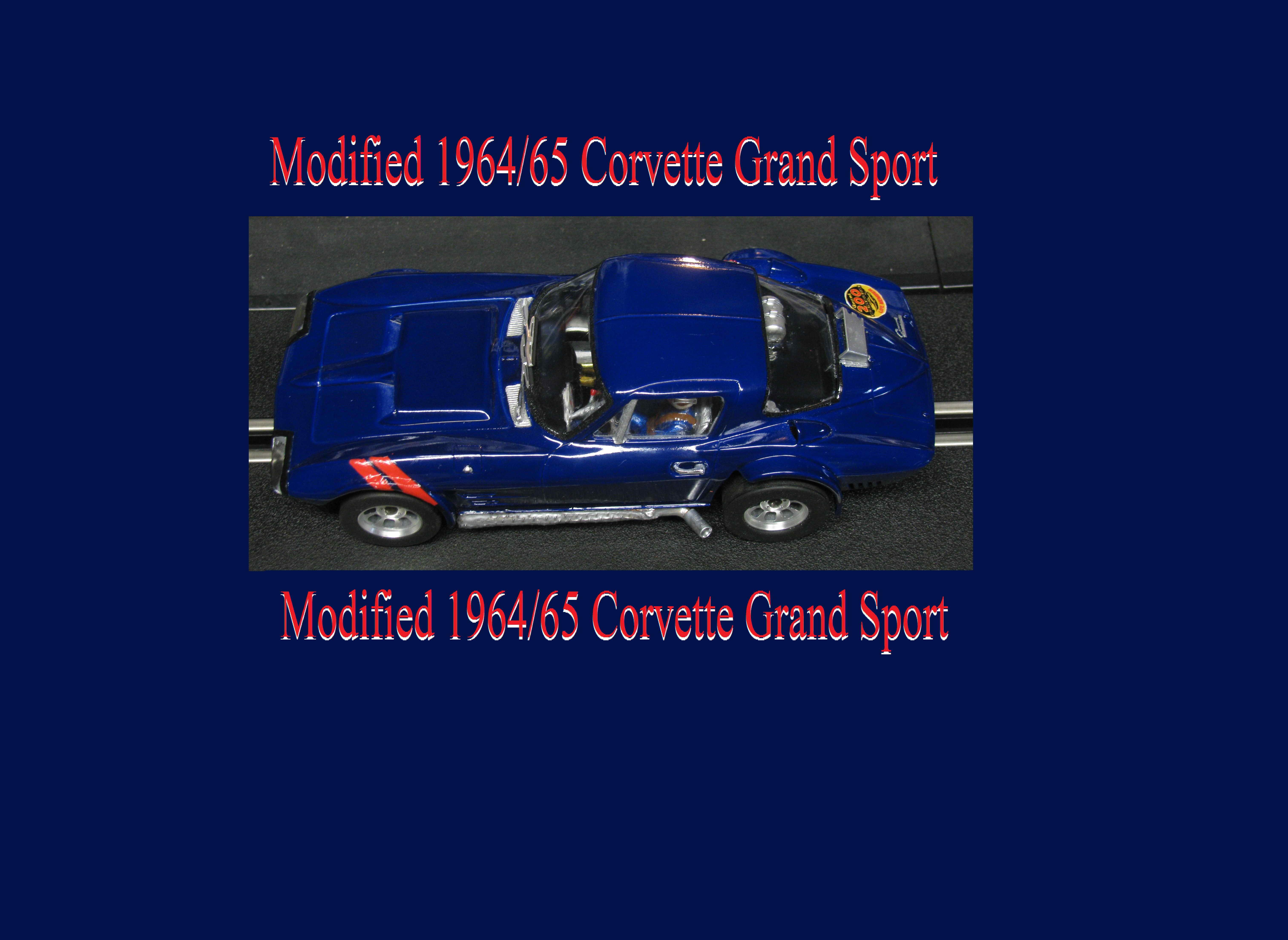 *SALE, Normally $309 SAVE $100* Vintage 1964/65 Corvette Grand Sport slot car Bridgehampton Blue Poly 1/24 scale