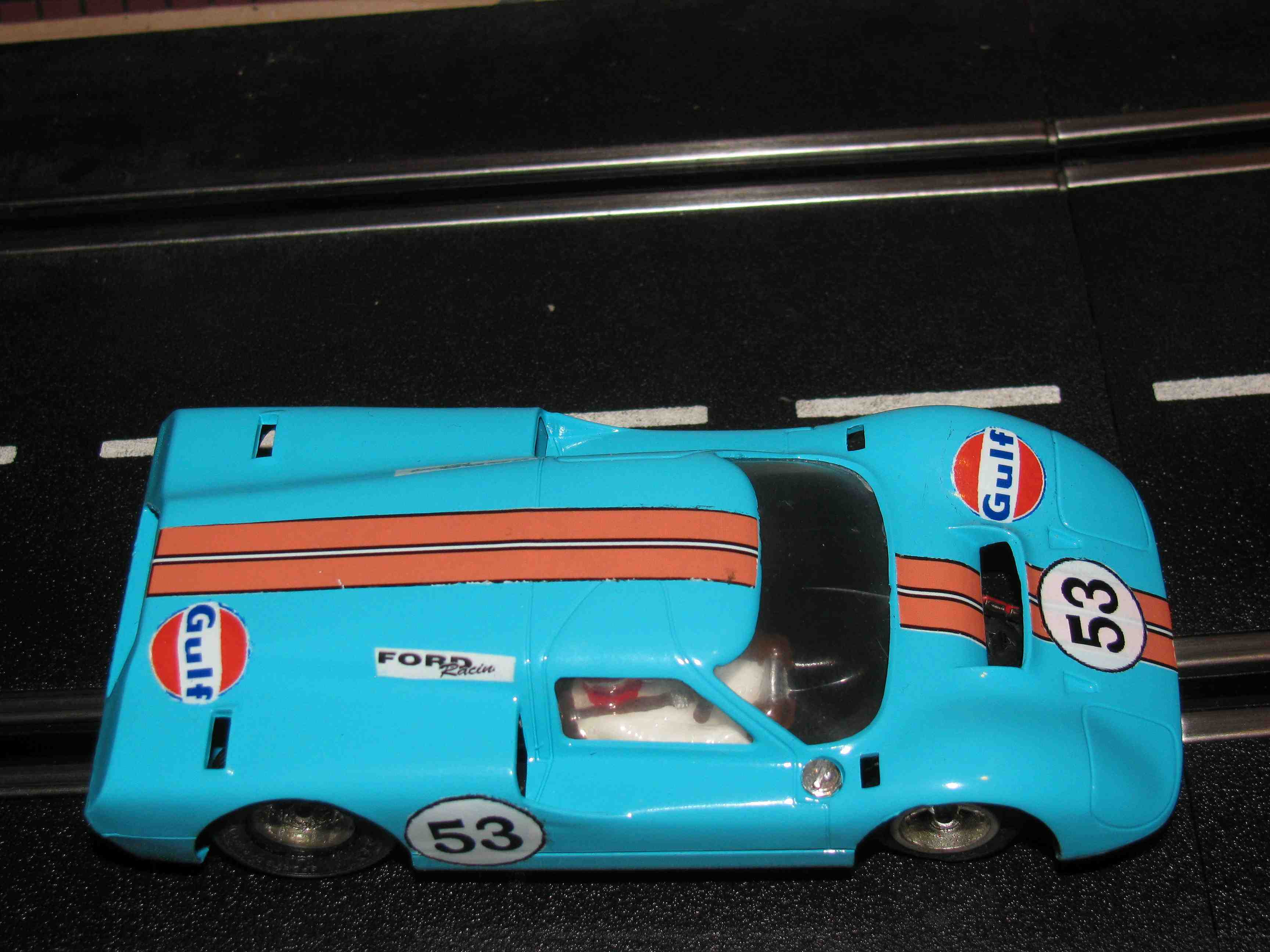 * SOLD * FORD Type-J Slot Car, Car 53, 1/32 Scale