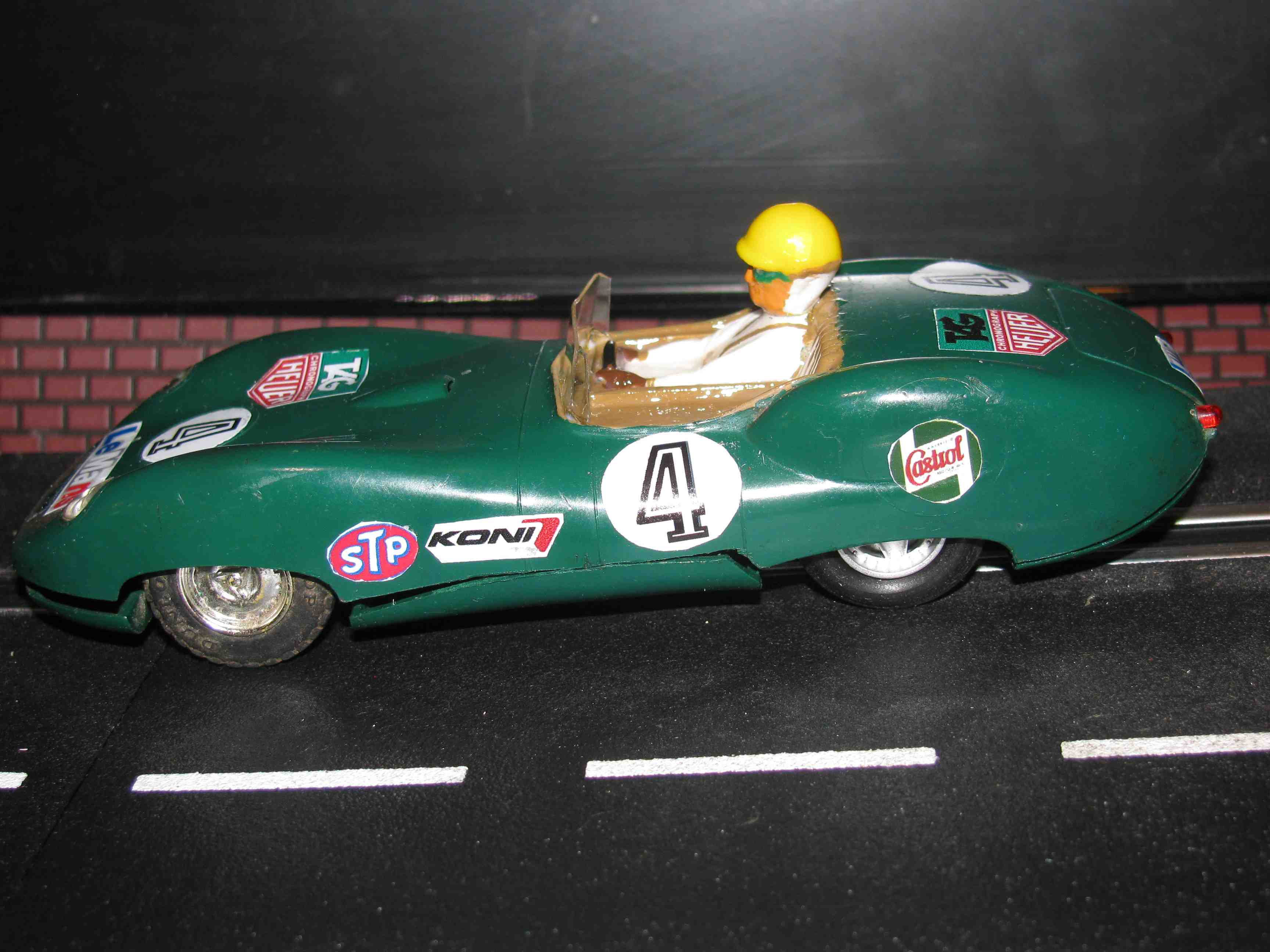 * SOLD * Very Rare and Vintage Scalextric Triang Lister Powered by Jaguar Slot Car 1/32 Scale