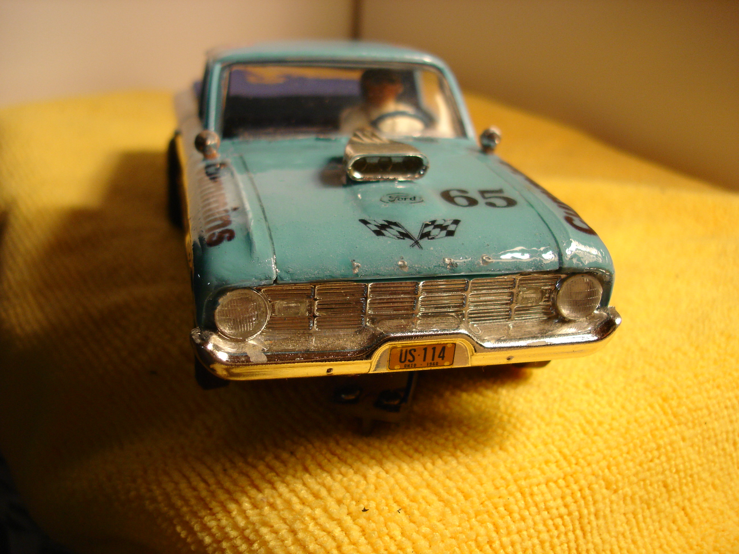 "* SOLD * Vintage Ford Falcon Ranchero Slot Car 1/24 Scale ""Cummins Racing"" Car 65"