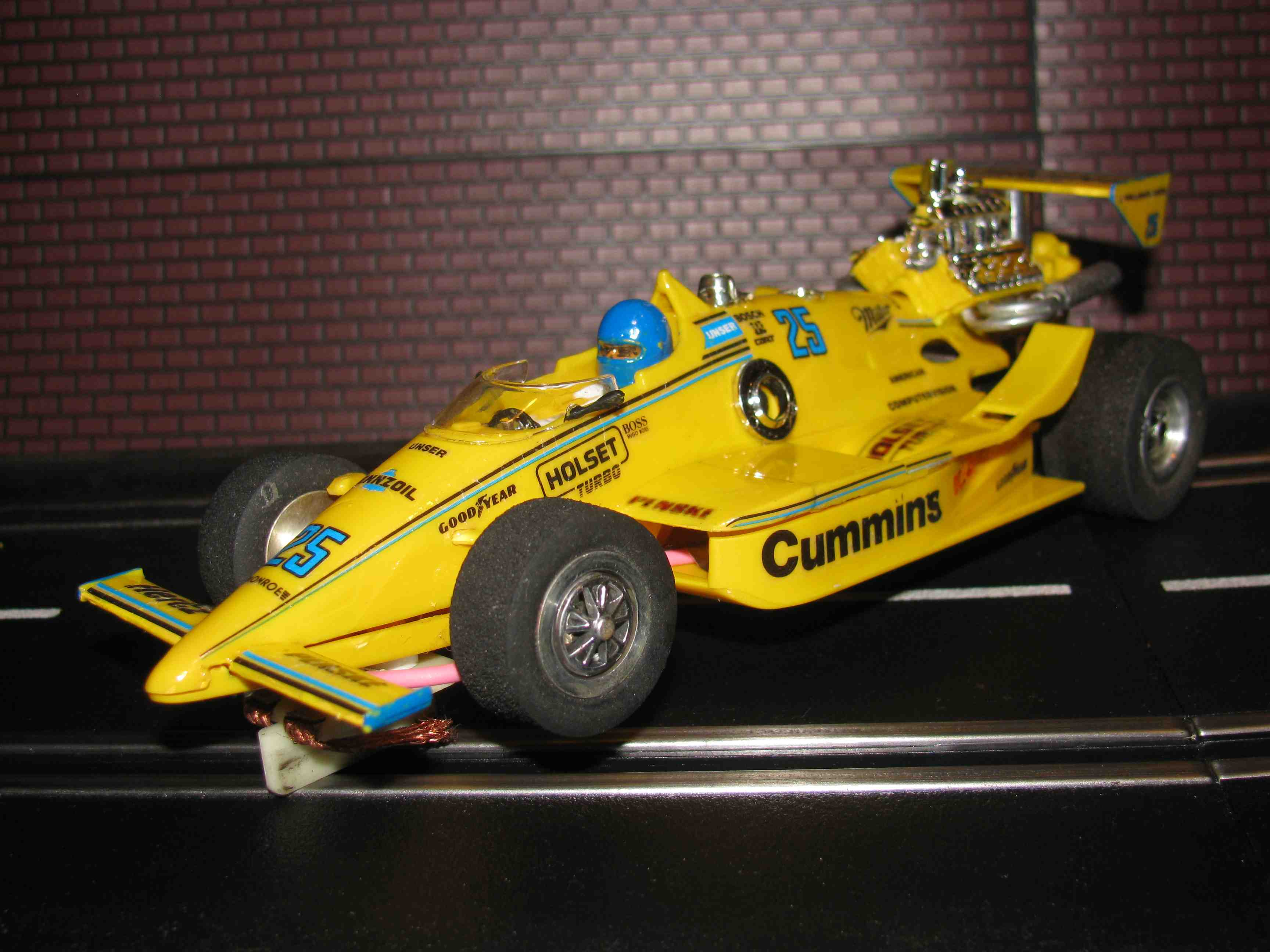 *SOLD* Cummins Formula 1 Pennzoil Racing Titan 2 Slot Car 1/24 Scale – Yellow - Car 25