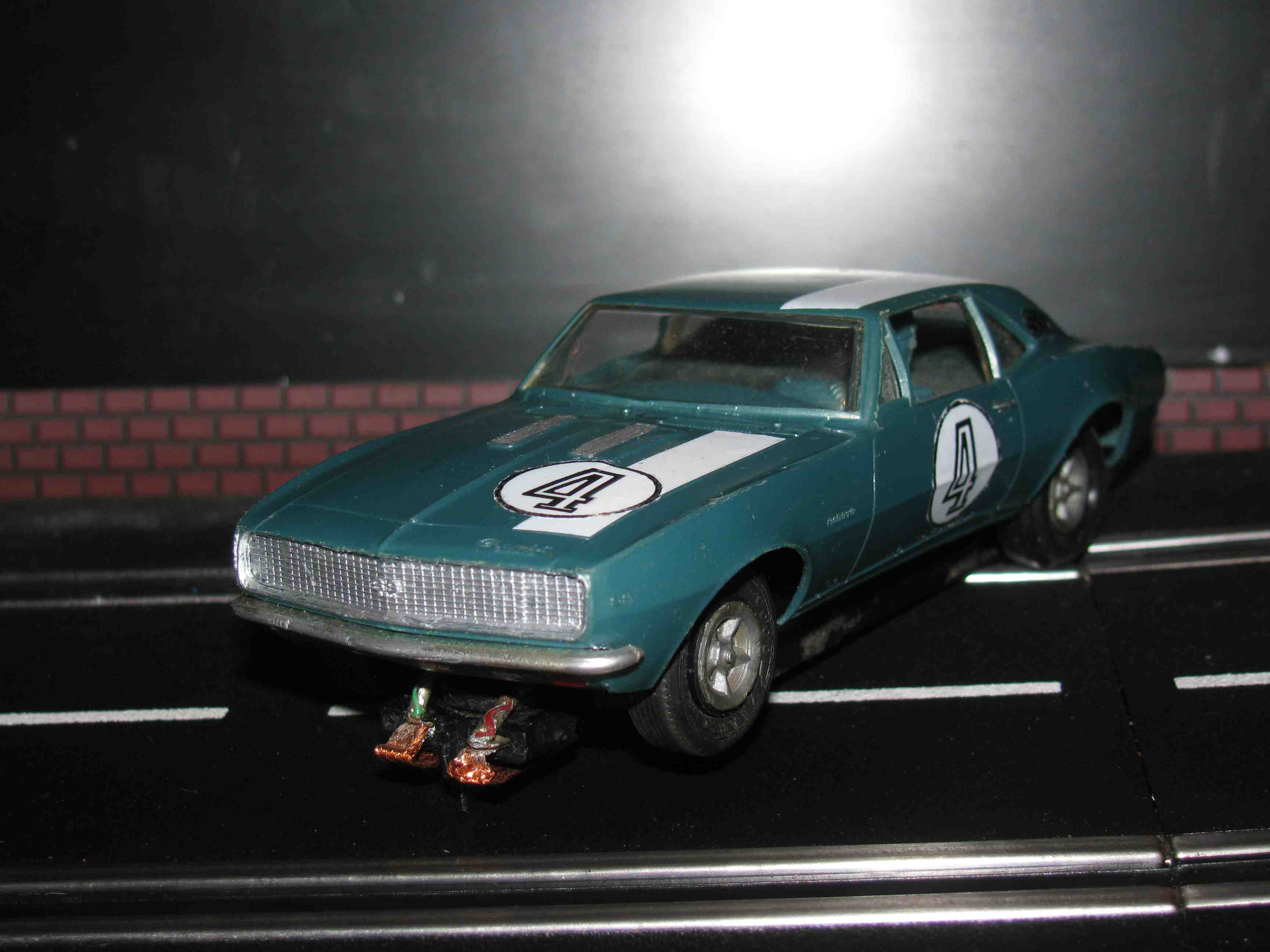 *SOLD* Vintage Revell Camaro SS Slot Car 1/32 Scale – Blue – Car 4