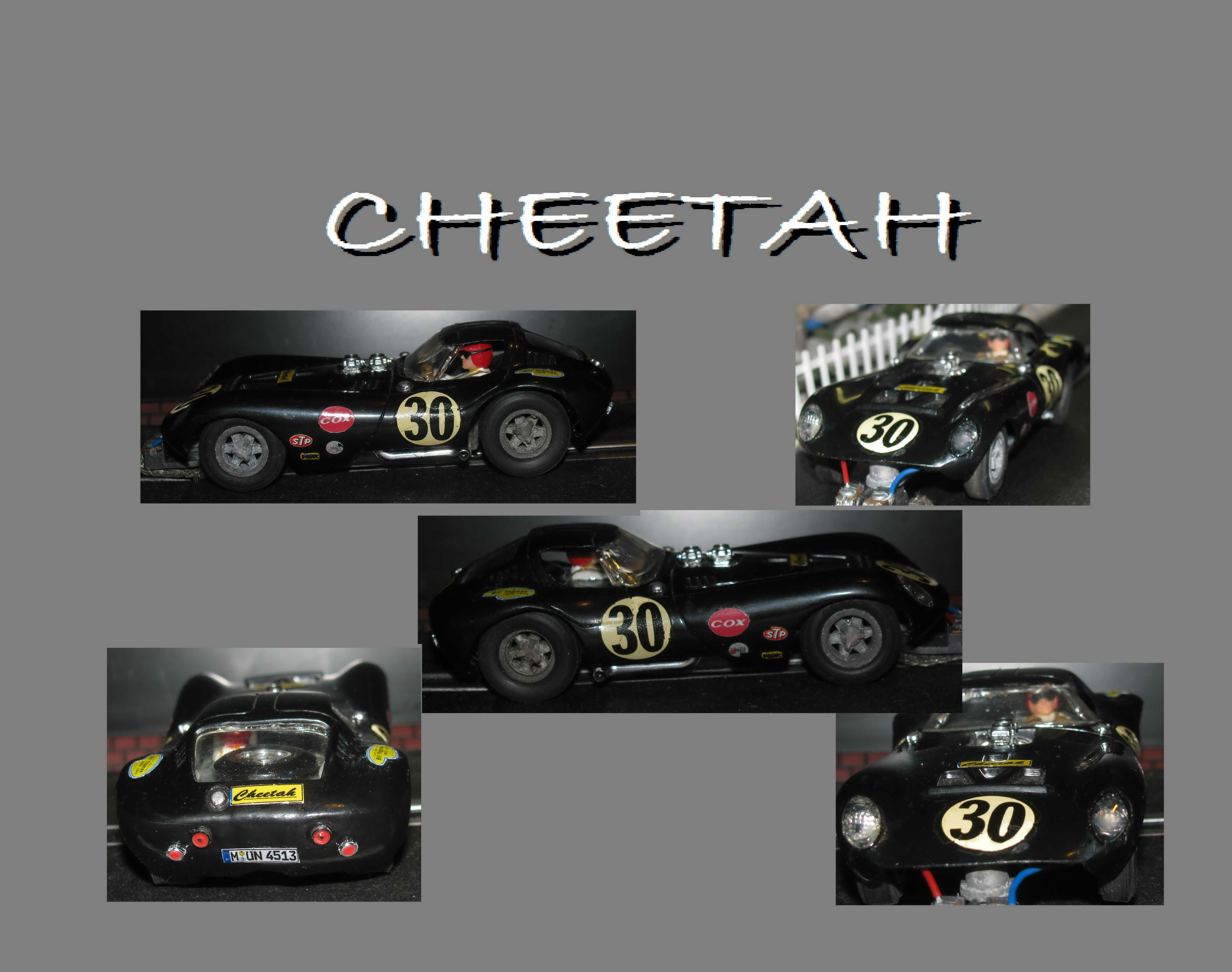 * SOLD * Vintage COX Bill Thomson Cheetah Racer