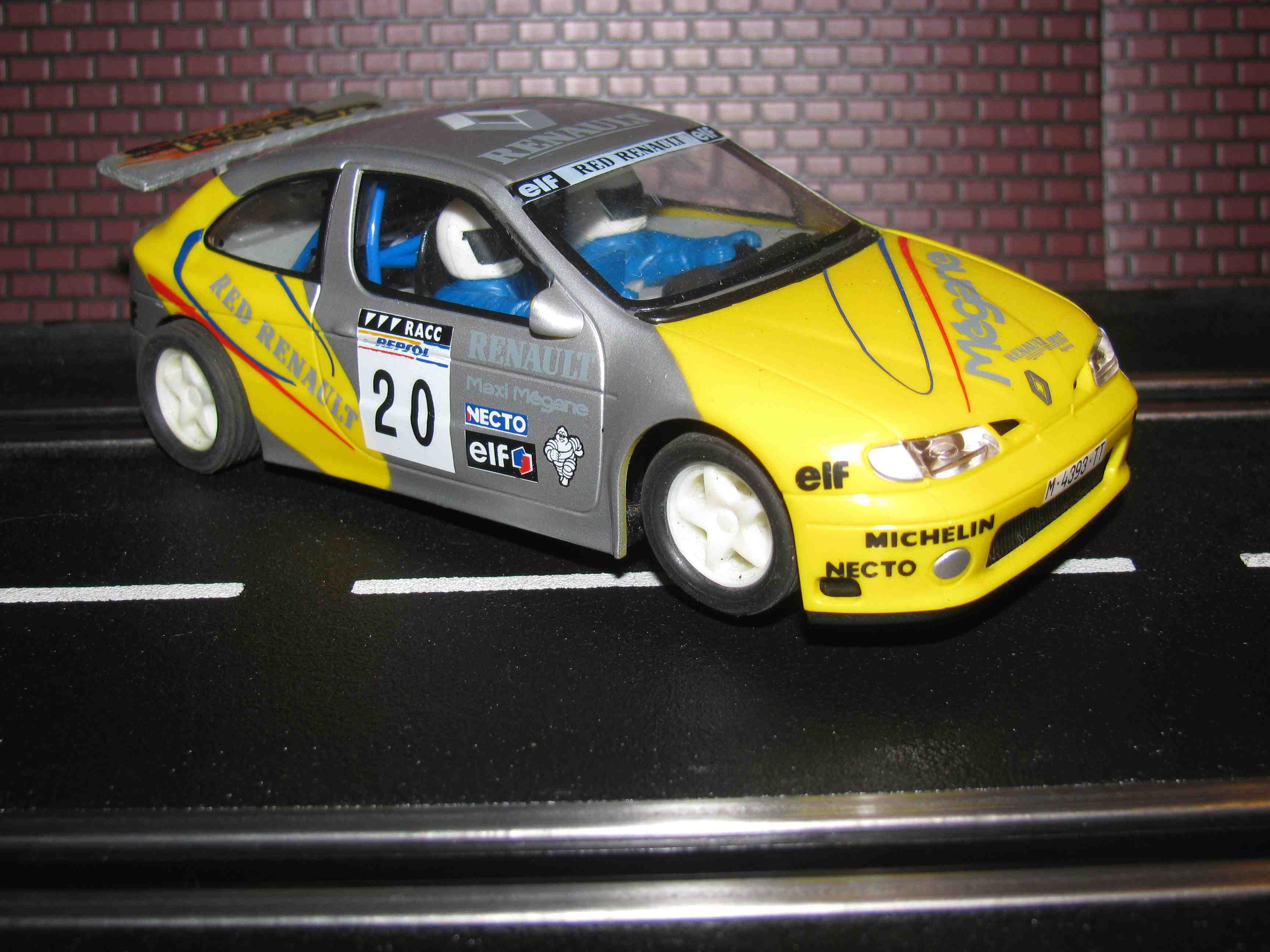 Renault Maxi Megane Rally Cross Slot Car 1/32 Scale – Yellow-Silver – Car 20