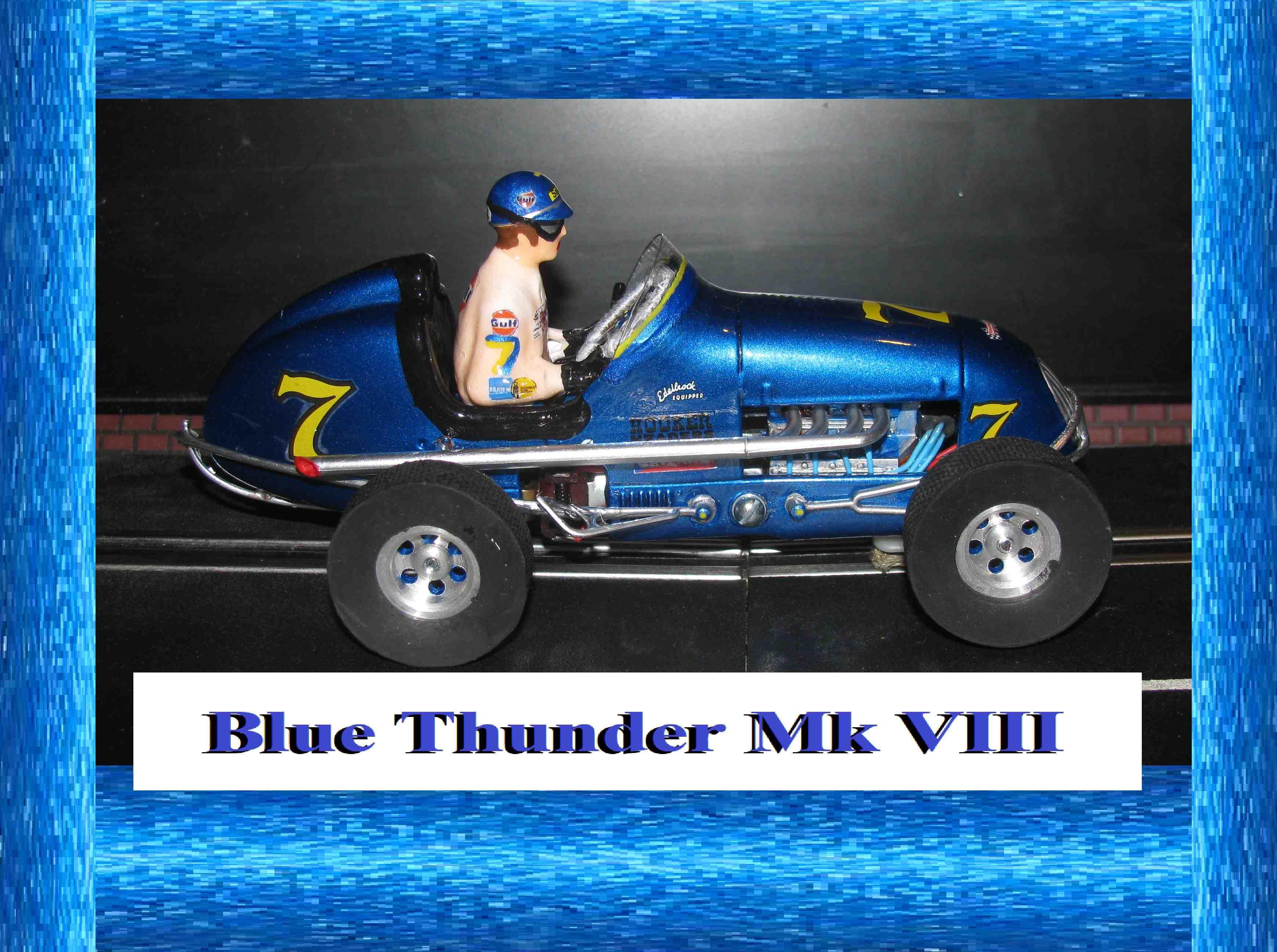 * SOLD * * SALE * Monogram Midget Racer Blue Thunder Mk VIII Racing Special Slot Car 1/24 Scale (Intense Blue Metallic)