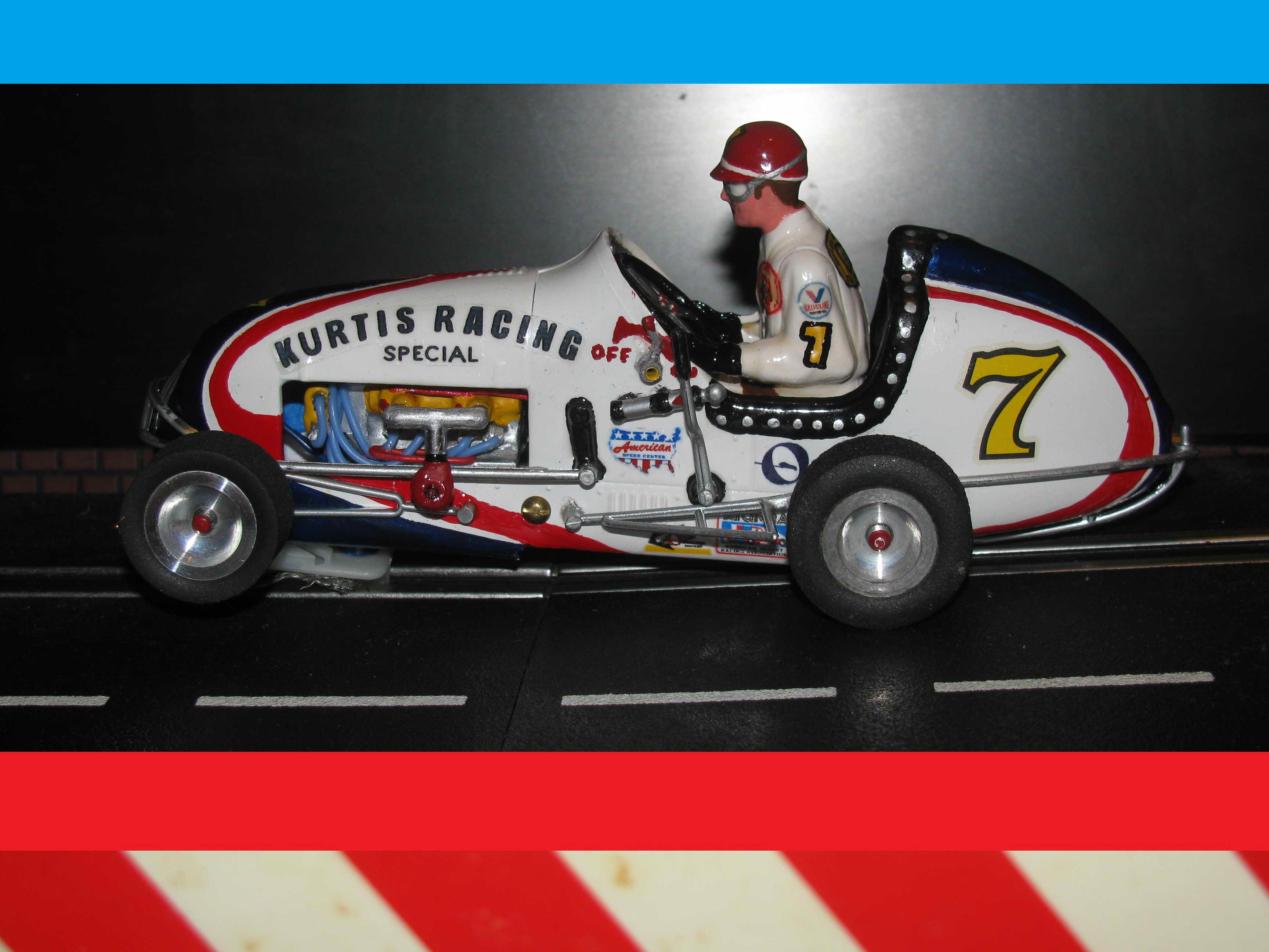 *SOLD* *ROCK BOTTOM SALE PRICE* Parnelli Jones themed Midget Racer, Kurtis Racing Special – Slot Car #7