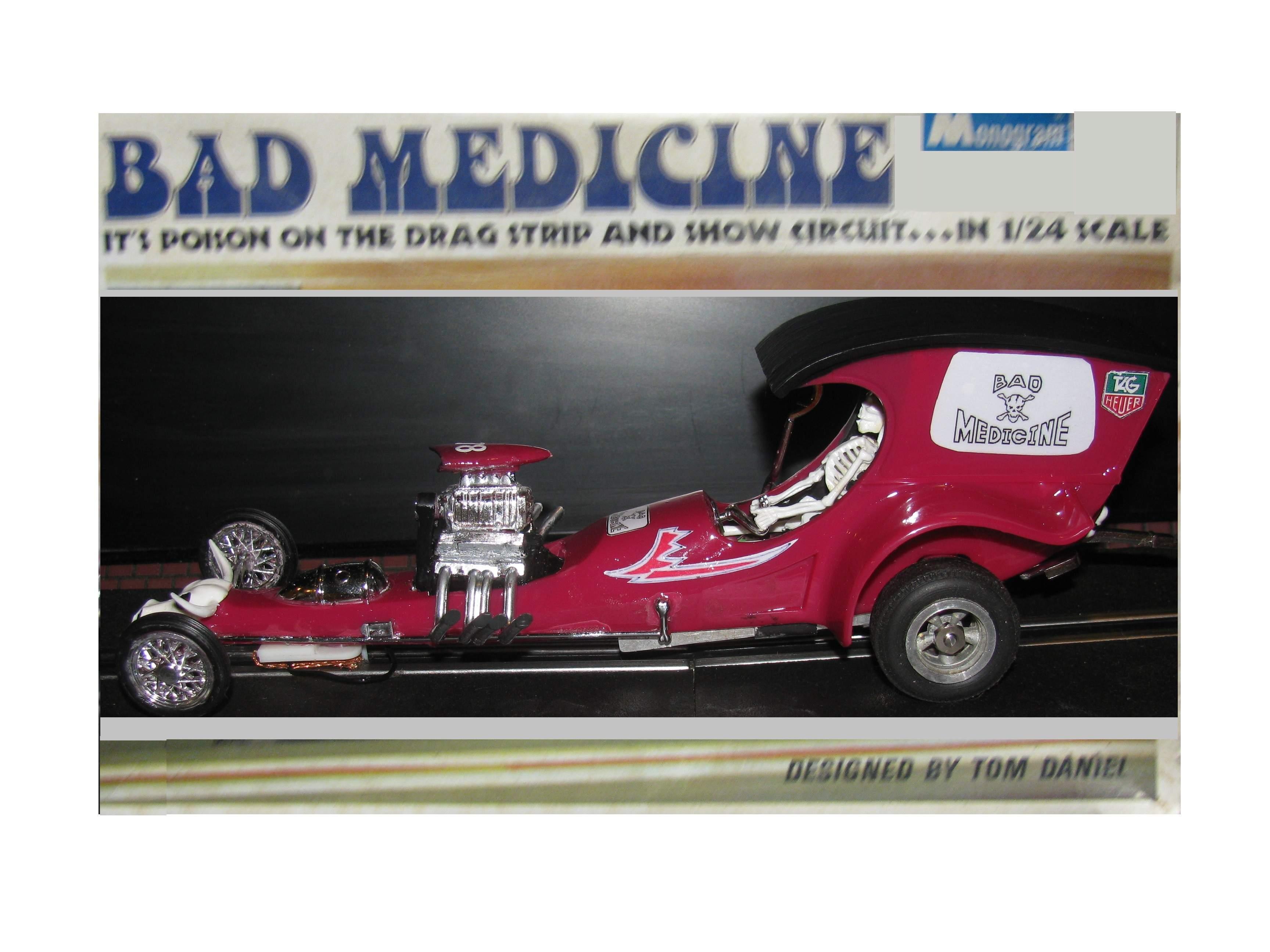 *SOLD* * Winter Super Sale * Bad Medicine Dragster by Monogram designed by Tom Daniel's Slot Car 1:24 Scale #78