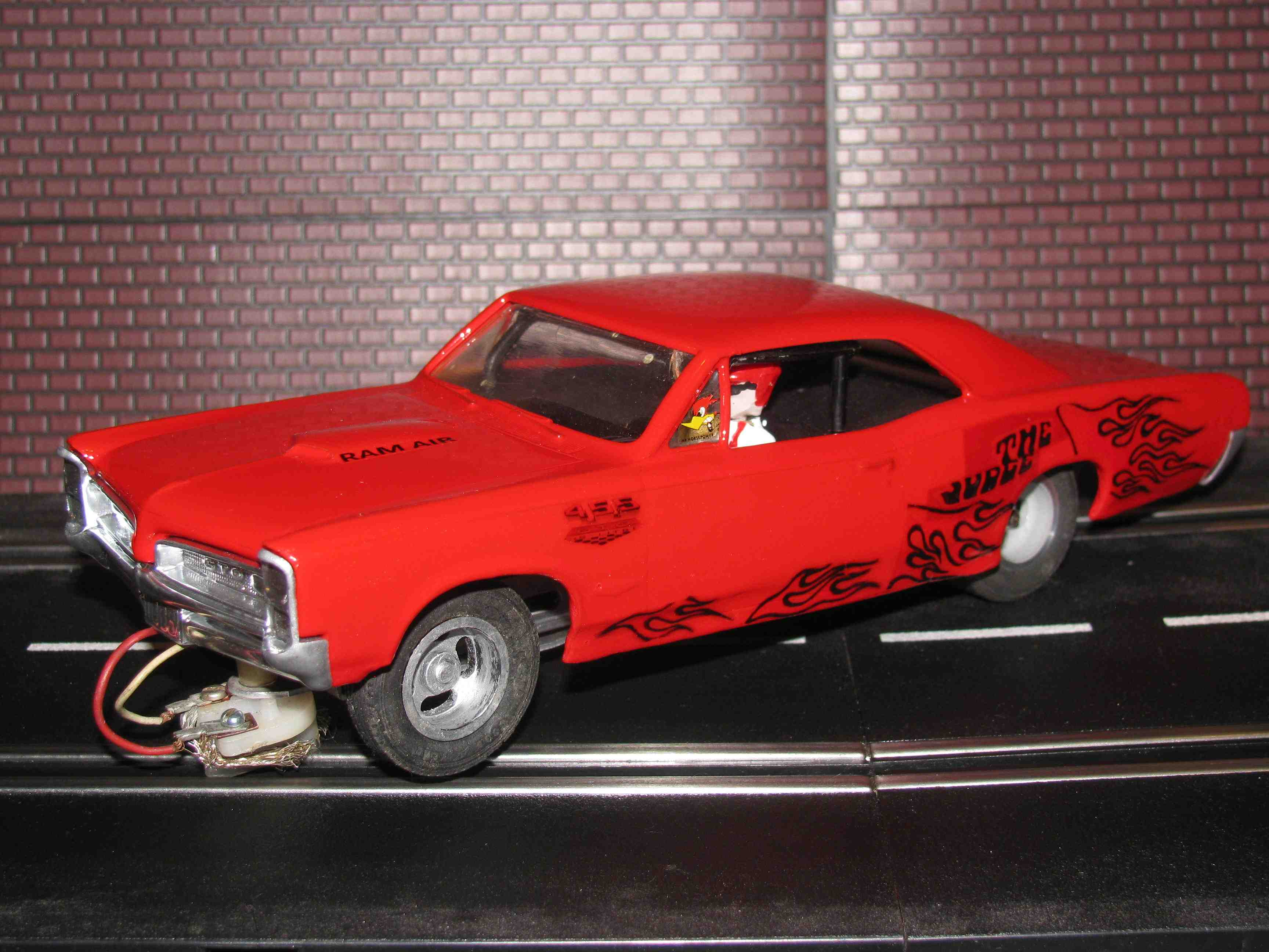 """* SORRY YOU MISSED OUT ON THIS ONE - SOLD * 1966 Pontiac GTO """"The Judge"""" Slot Car in 1/24 Scale"""