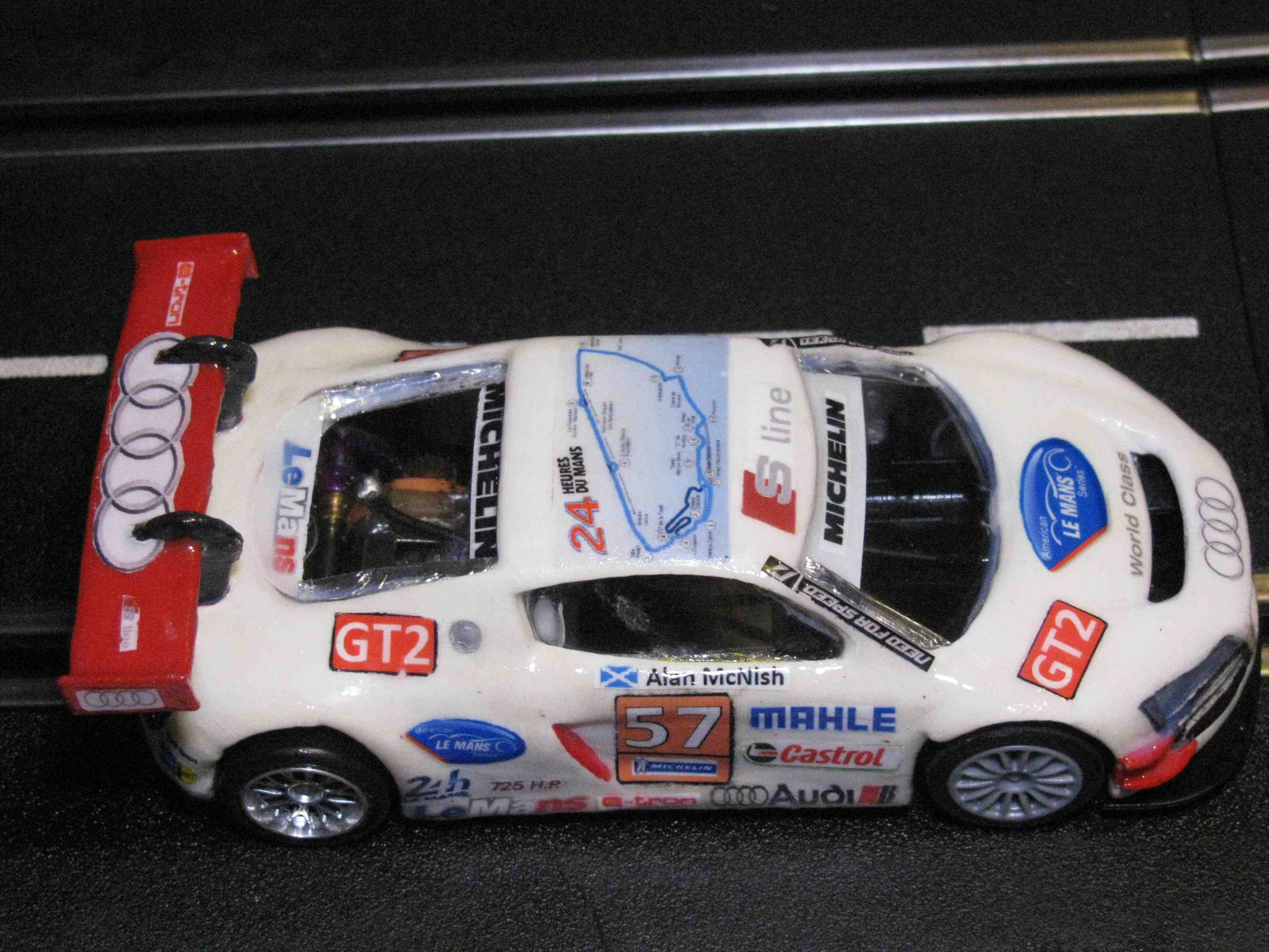 * SORRY YOU REALLY MISSED OUT, SOLD * Hornby AUDI R8 LMR GT Slot Car - Ultimate Racer with many upgrades 1:32 Scale
