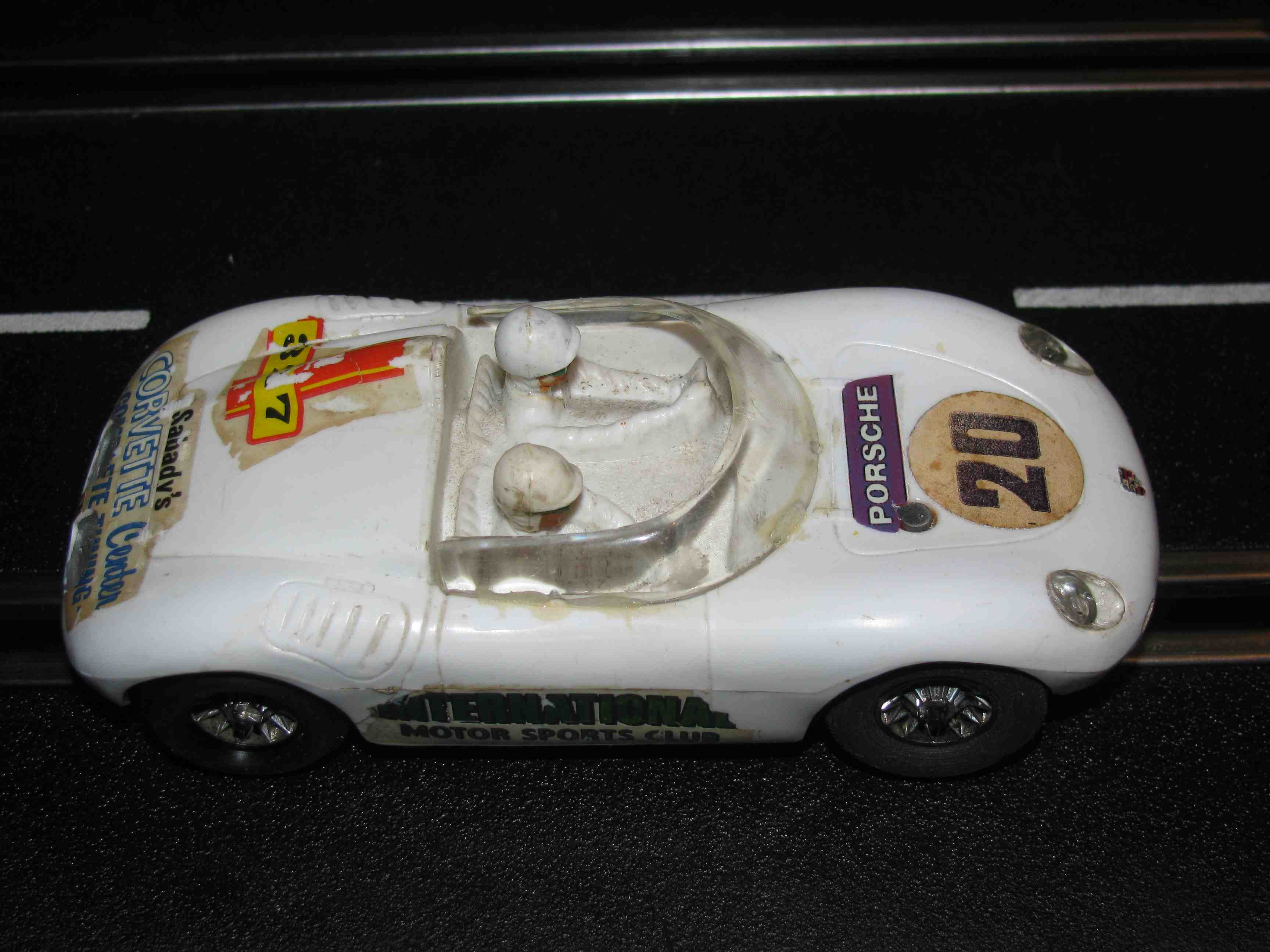 * SOLD * Strombecker Porsche 1955 RS61 Spyder Panamericana Racer Slot Car 1/32 Scale