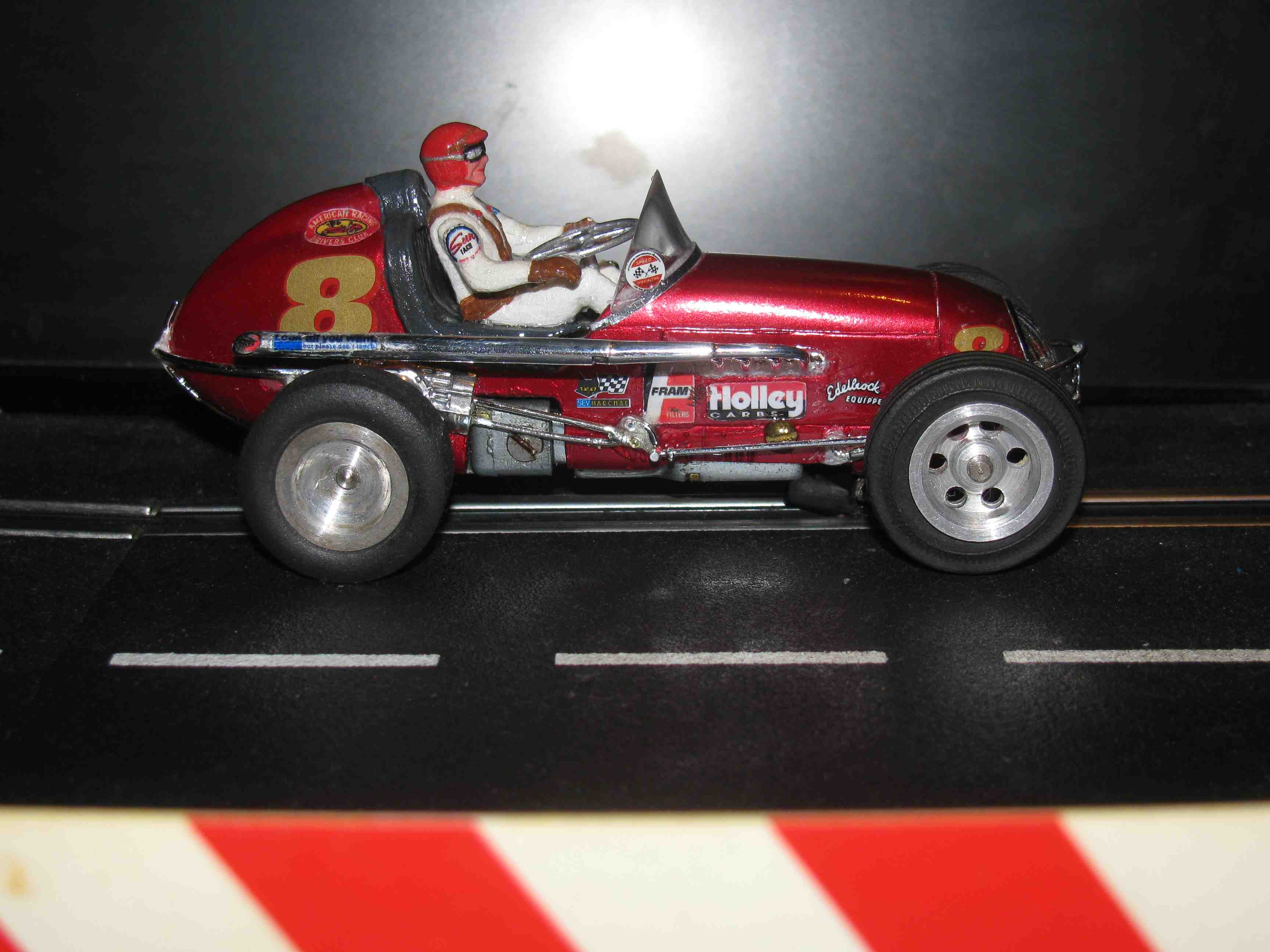 "* SOLD * * SALE * Vintage Midget Racer ""Tony's Speed Shop"" in Metallic Red Slot Car 1/32 Scale"
