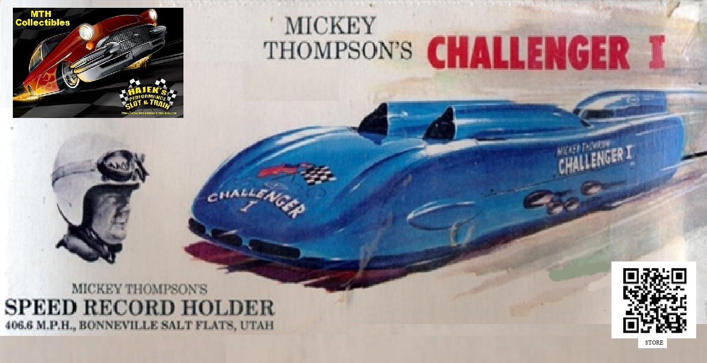 * Winter Super Sale * 1960 Mickey Thompson Challenger I Slot Car 1/24 Scale - Bonneville Salt Flats Speed Record Holder