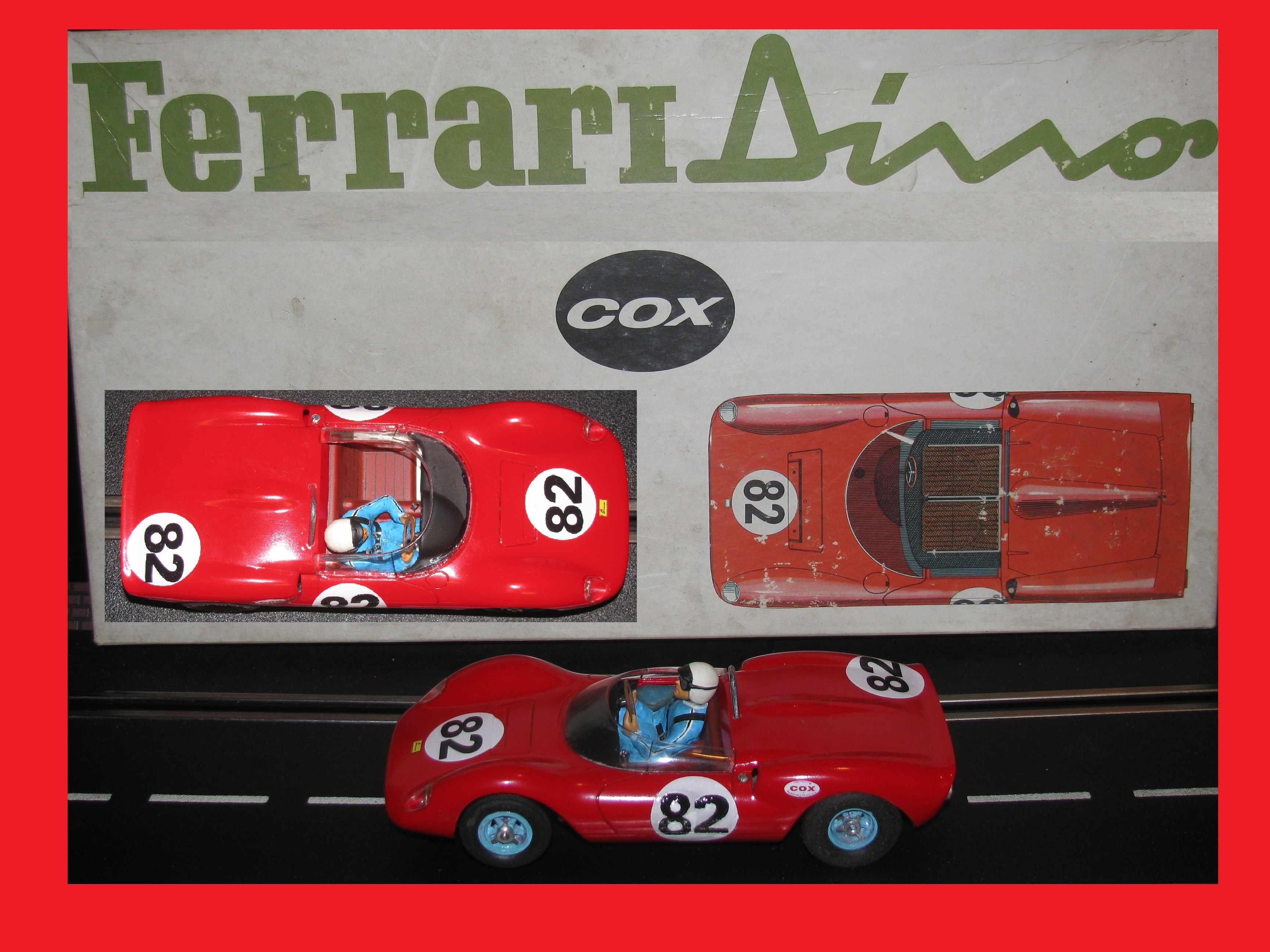 * SOLD * * Happy New Year Sale * Ferrari Dino Spyder COX RARE Original 1:24 Scale – Car #82 *** INCLUDES ORIGINAL BOX ***