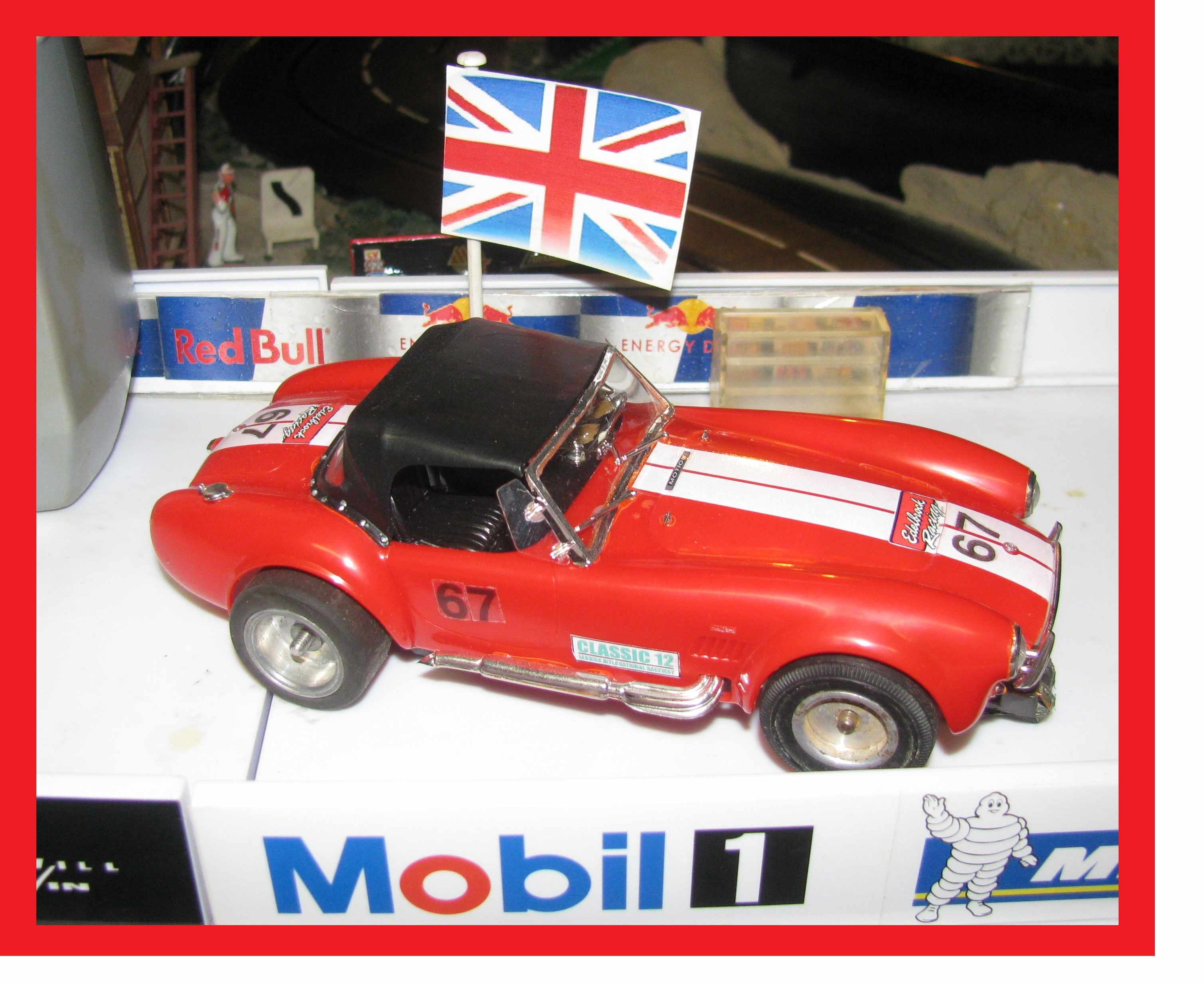 *SOLD* * Sale * 1965 Shelby Cobra Racer 1:24 Scale Slot Car #67 in original Red