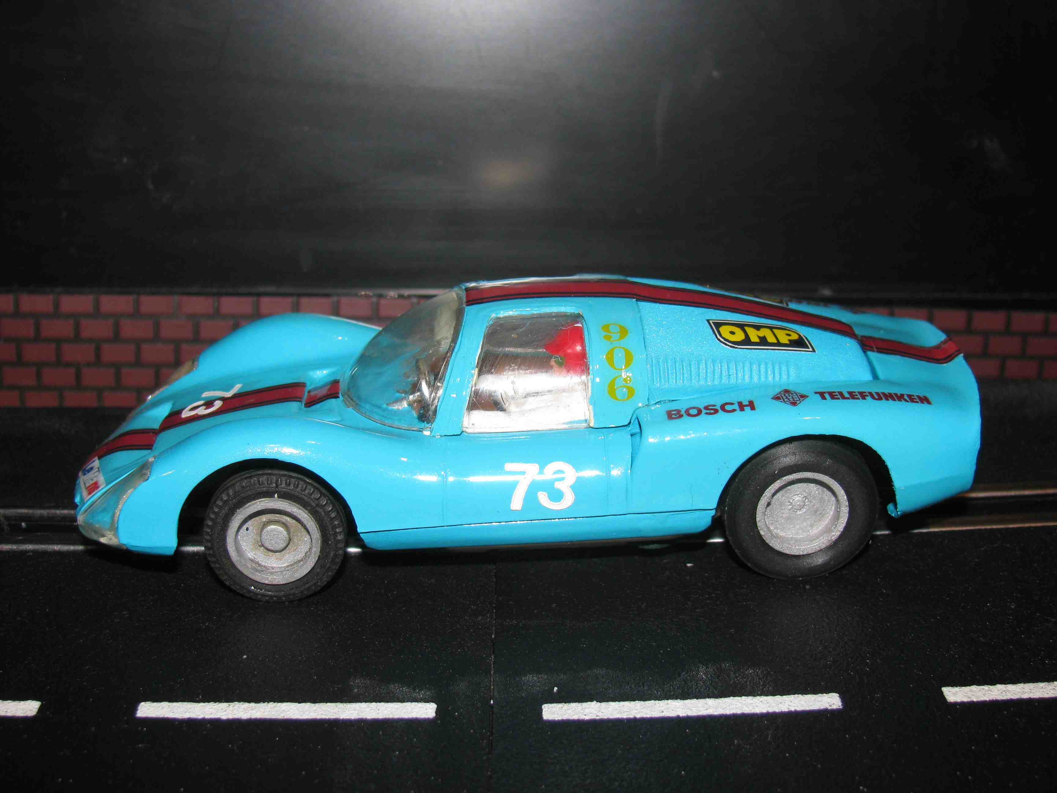 * SOLD * Strombecker Porsche 906 Carrera 6 GTS Slot Car 1/32 Scale – Car 73