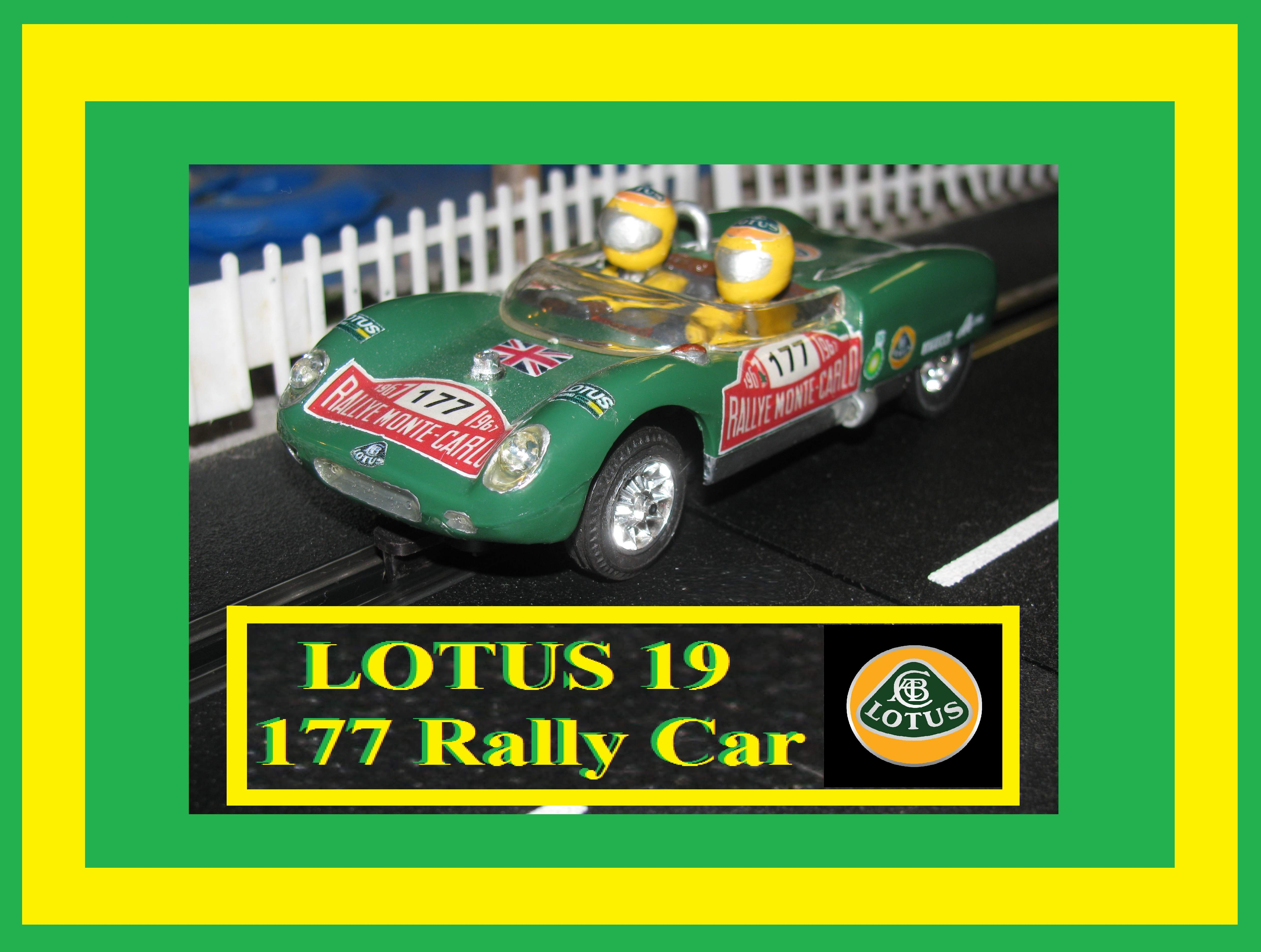 * SOLD * Vintage Strombecker LOTUS 19 Rally Car #177 1/32 SLOT CAR Rallye Monte Carlo