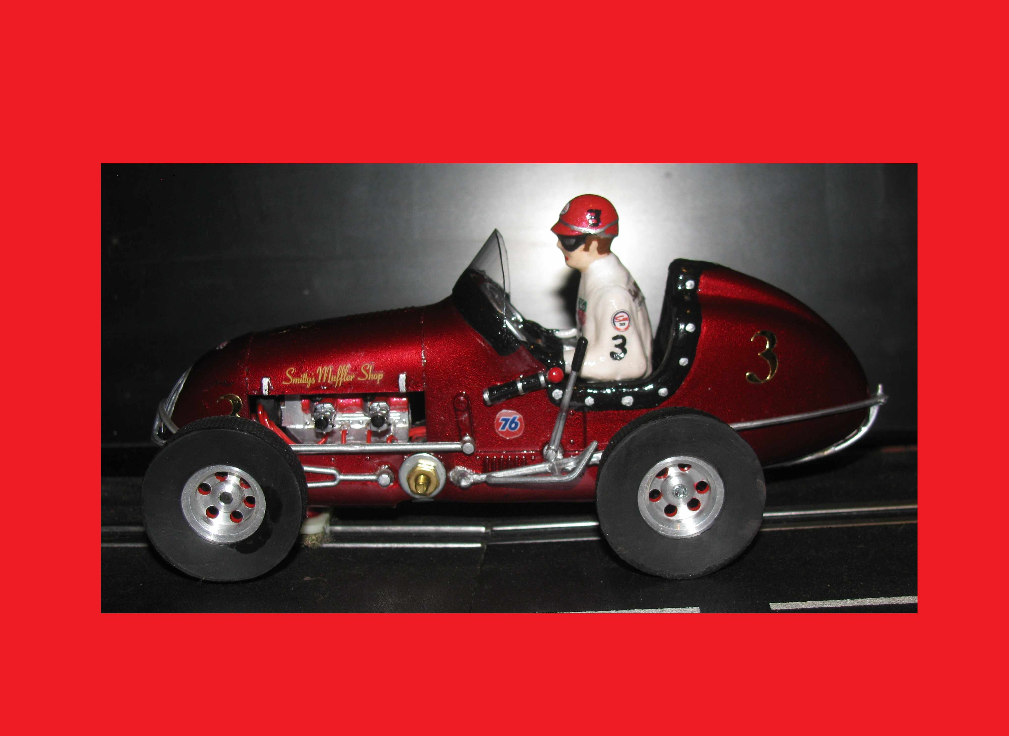 *SOLD* * SPECIAL WEEKEND SALE * Monogram Midget Ruby Red Racing Special Slot Car #3