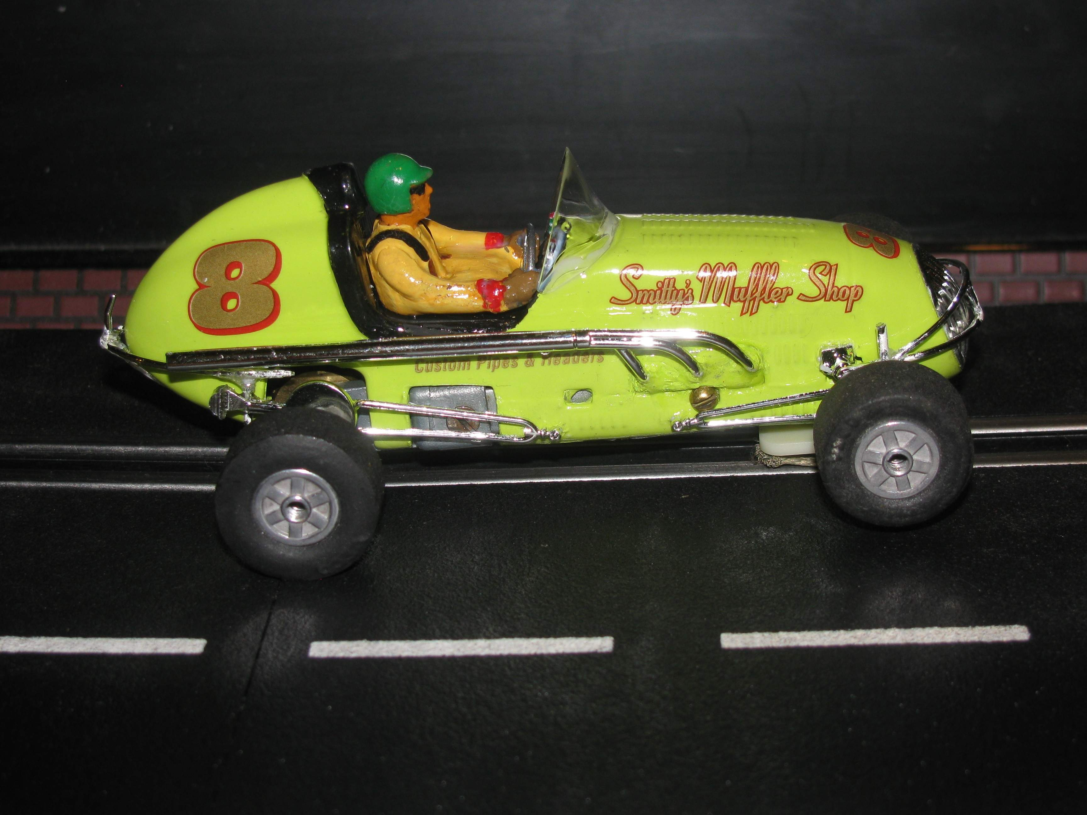 * SOLD * * Special Price for Charles E.* Revell Midget Racer Smittys Keylime Muffler Shop Racing Special 1:32 Scale