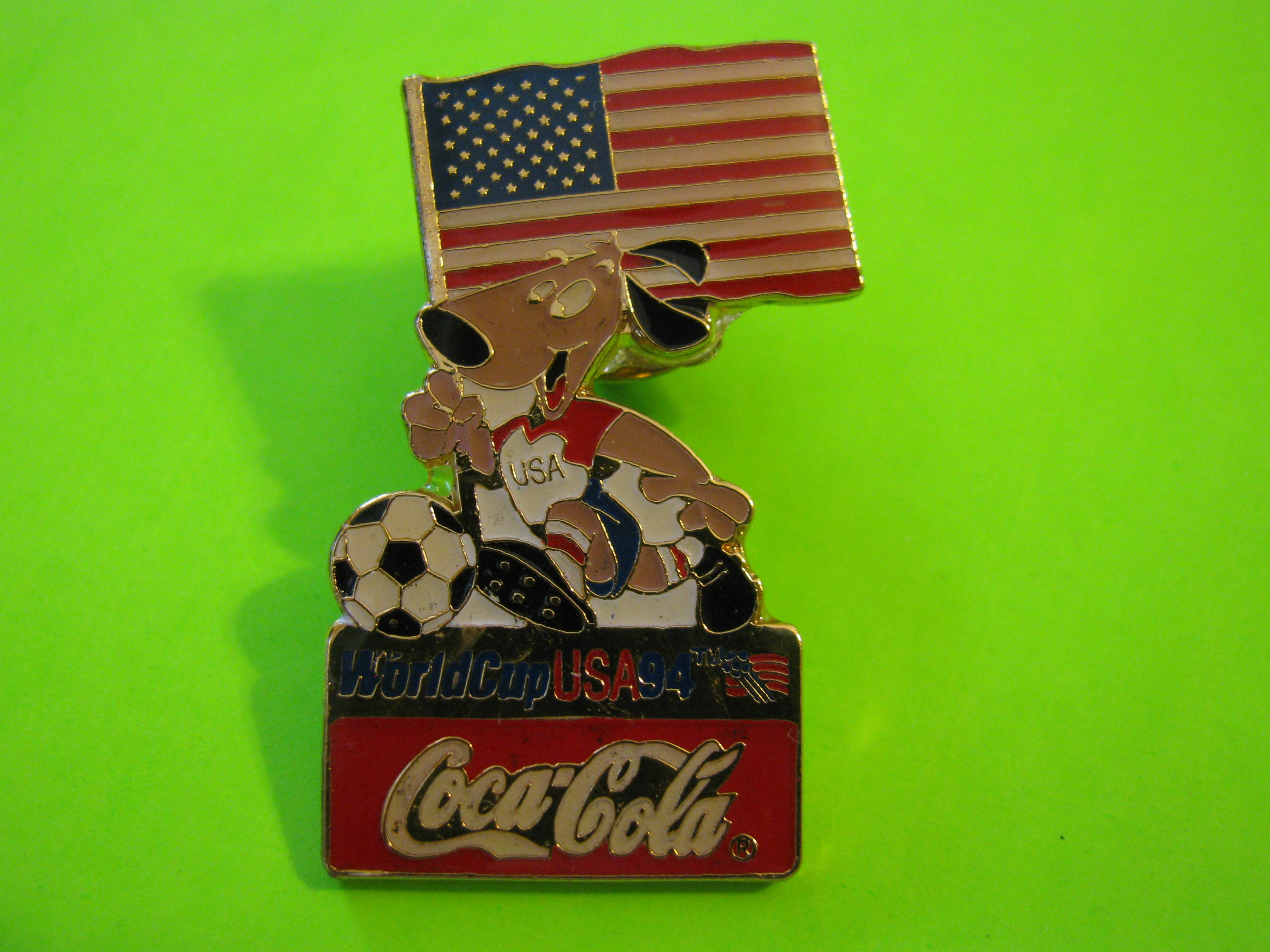 1994 World Cup USA Coca Cola & Team USA Soccer Pin with Butterfly Clutch
