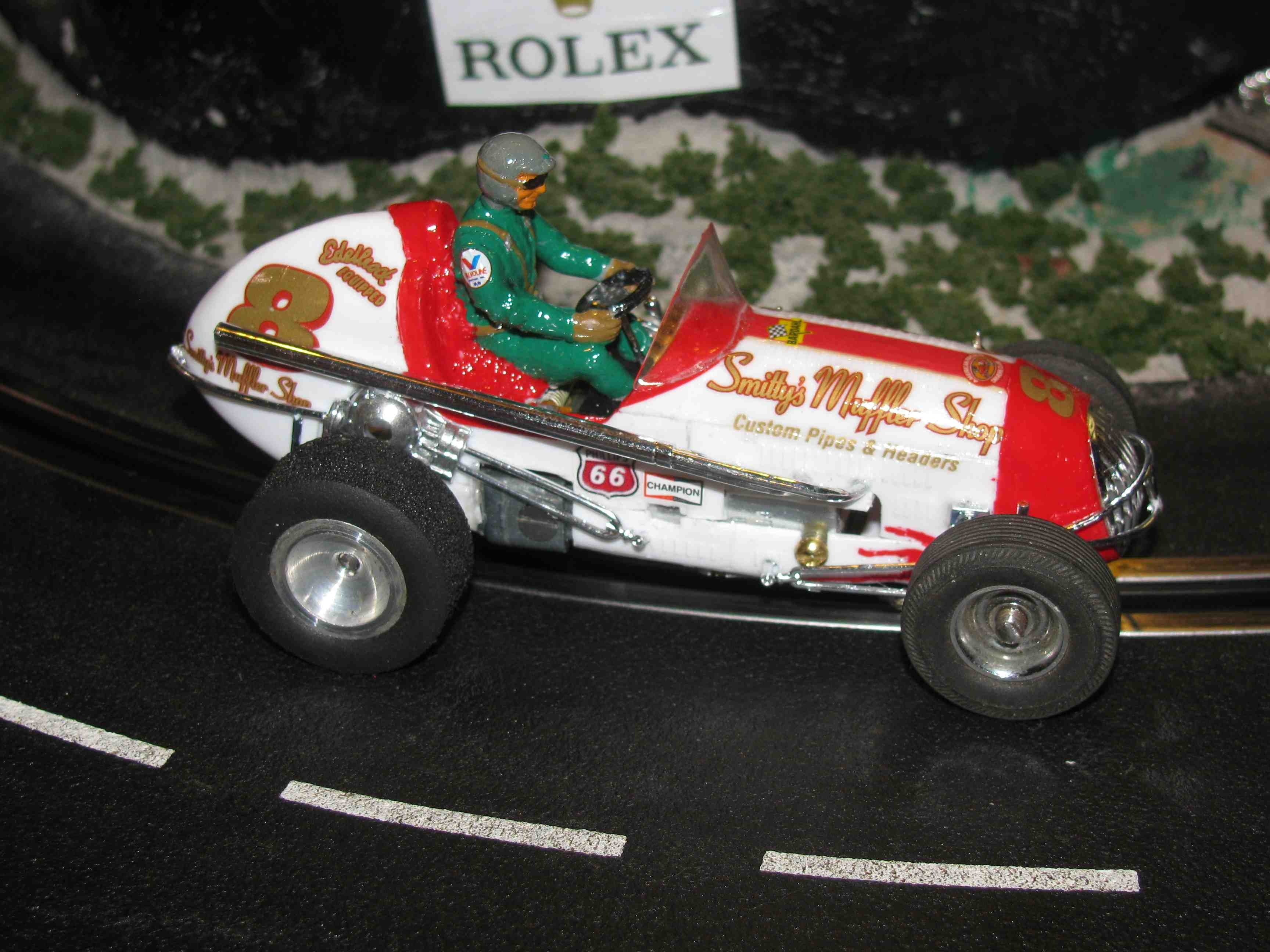 "* SOLD * Vintage Monogram Midget Racer ""Smitty's Shop"" Slot Car 1/32 Scale Car #8"