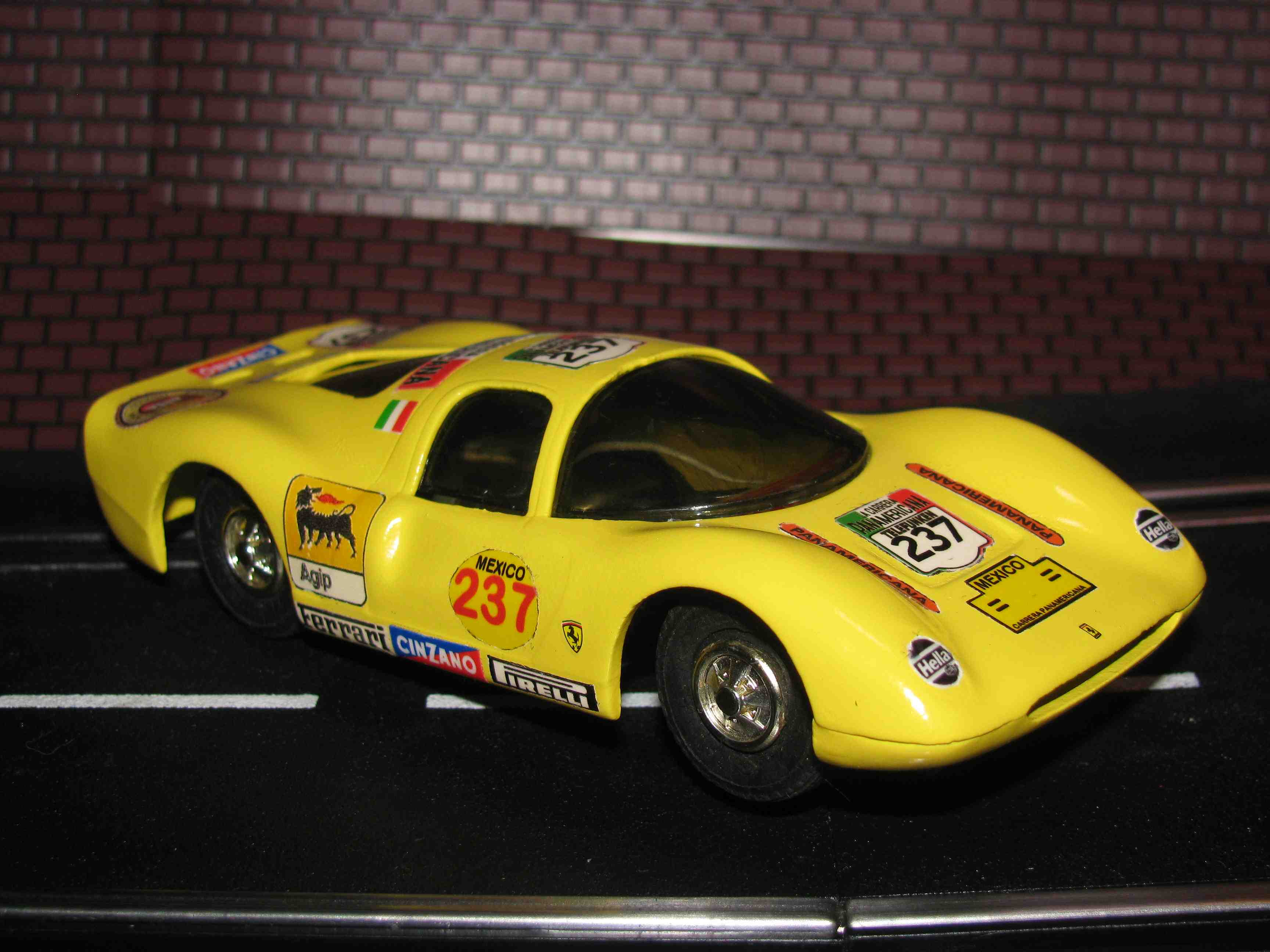 * SOLD * Eldon Ferrari P-3 – Yellow – Car 237 - #1351-12 – Carrera Panamericana Livery