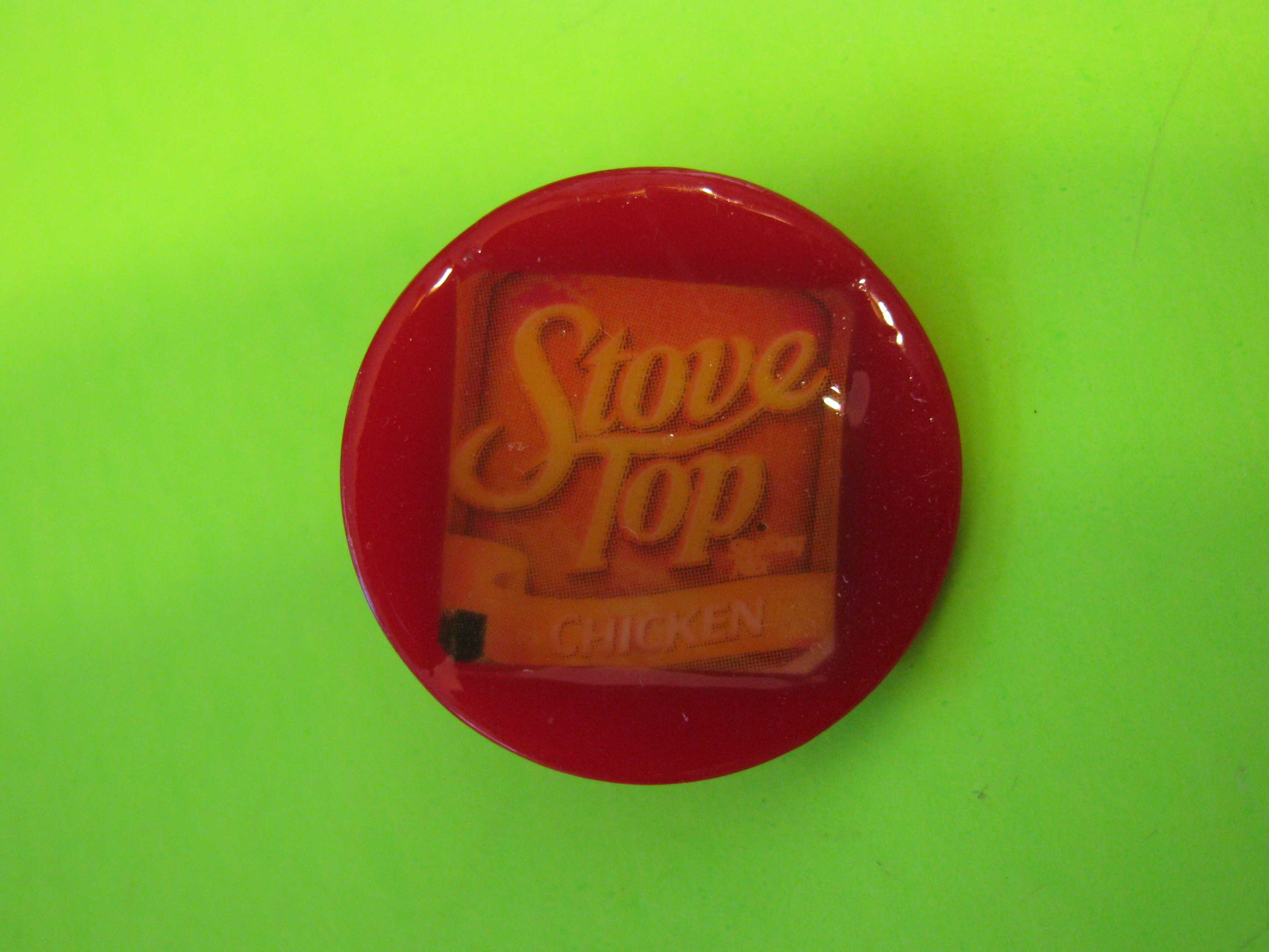 Stove Top Brand Promo Button Plastic with Claw Shank