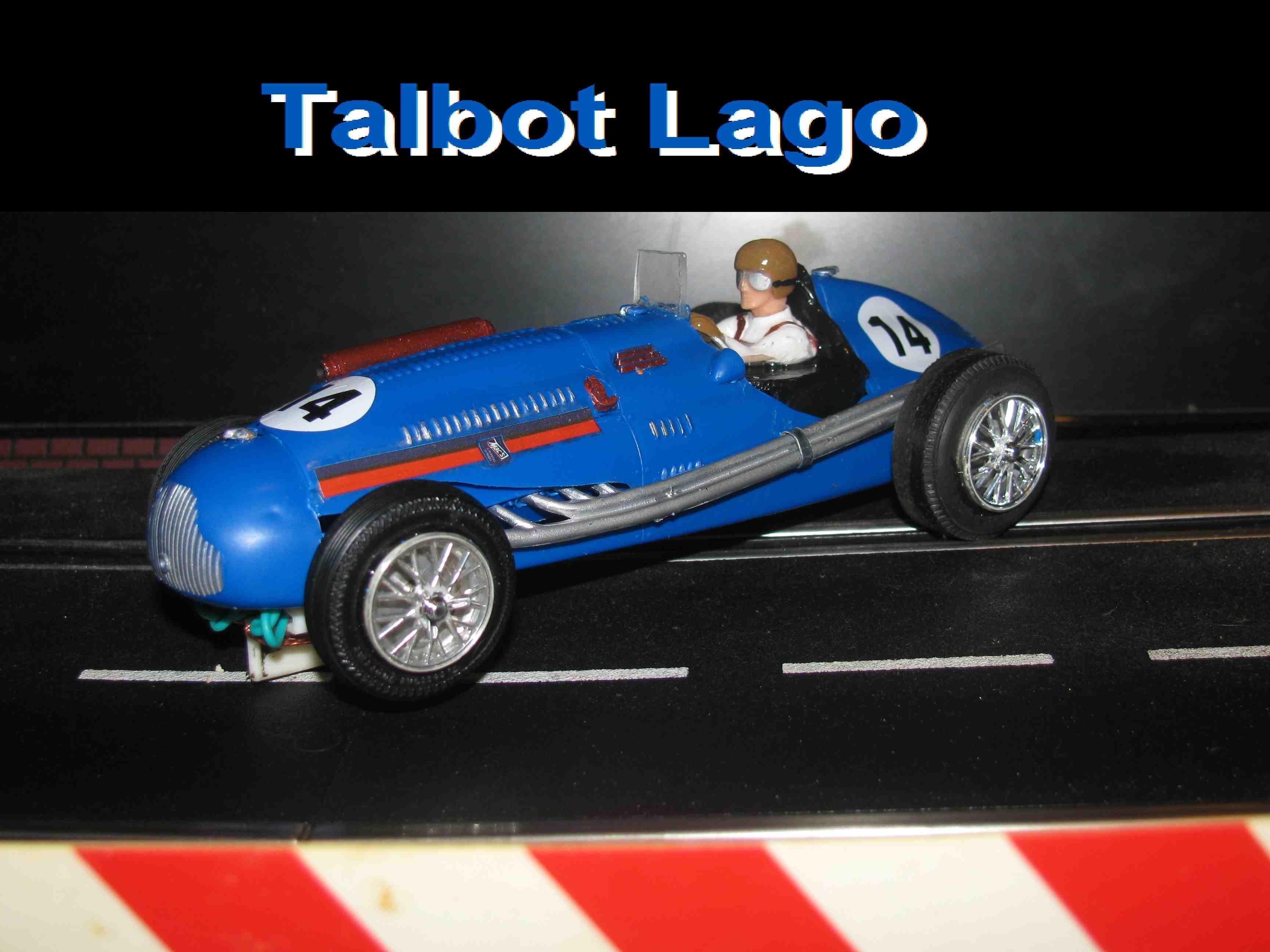 1949 Talbot Lago 150-SS 1/24 Slot Car The Talbot Logo 4.5 liter GP won the 1947, 1949, 1950 & 1951 Grand Prix Races
