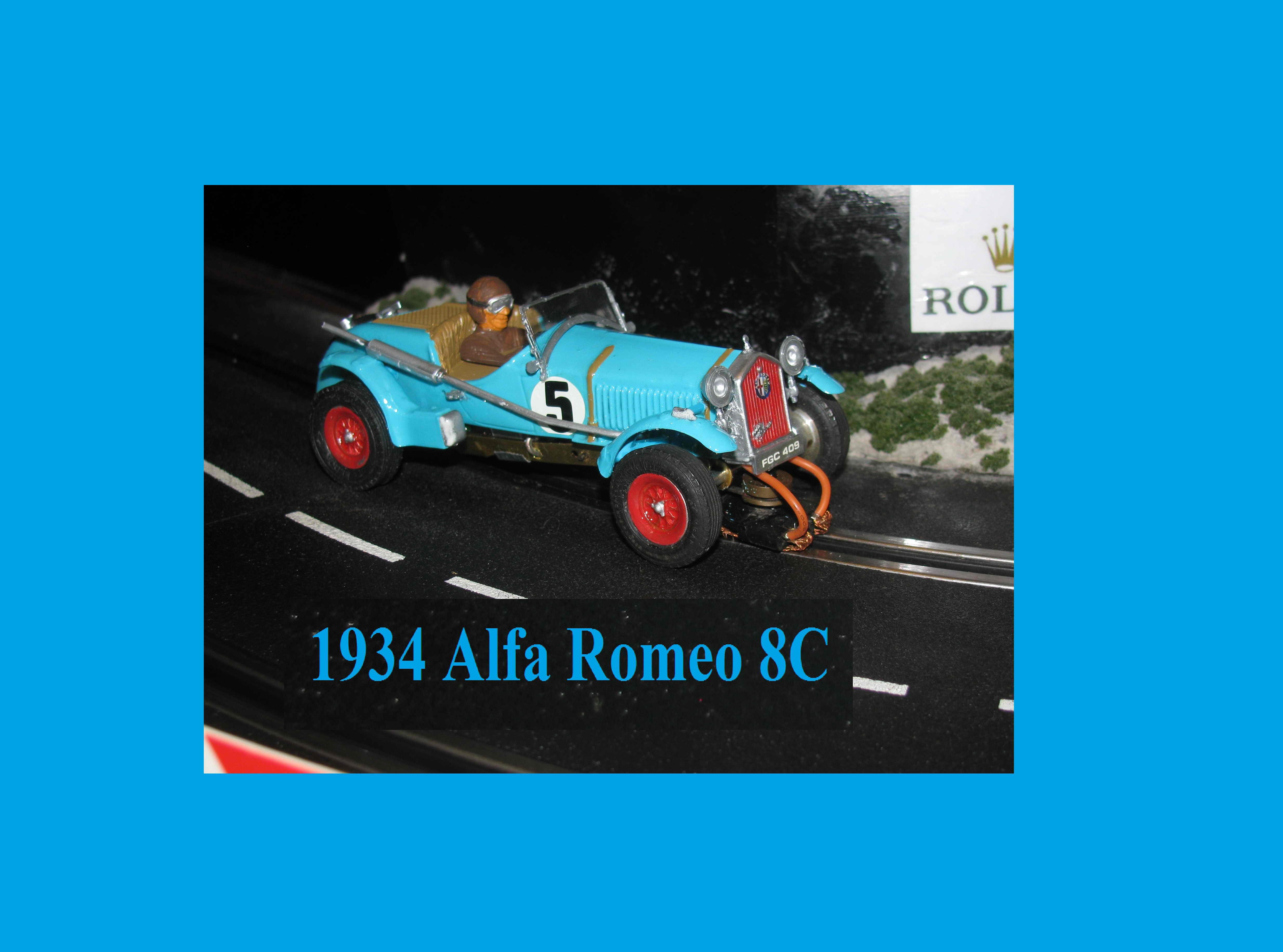 MPC 1934 Alfa Romeo 8C blue  Slot Car in 1/32 Scale