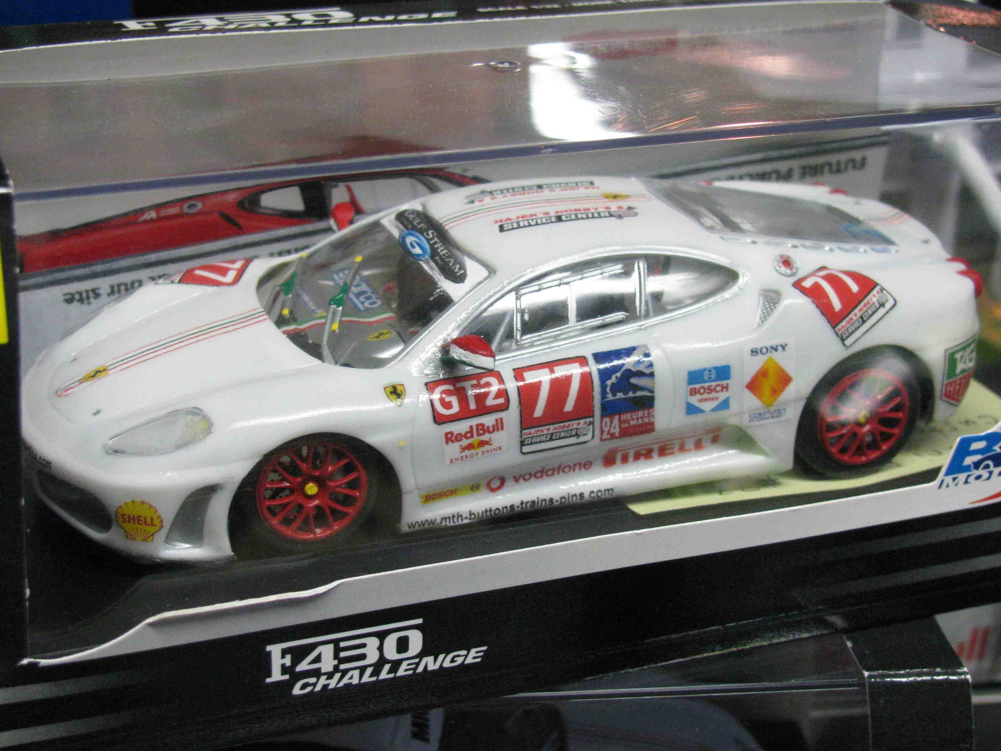 *SOLD* Ferrari F430 Challenge Slot Car in Bianca White, 24 Hour LeMan's Decal Design Livery - Car 77
