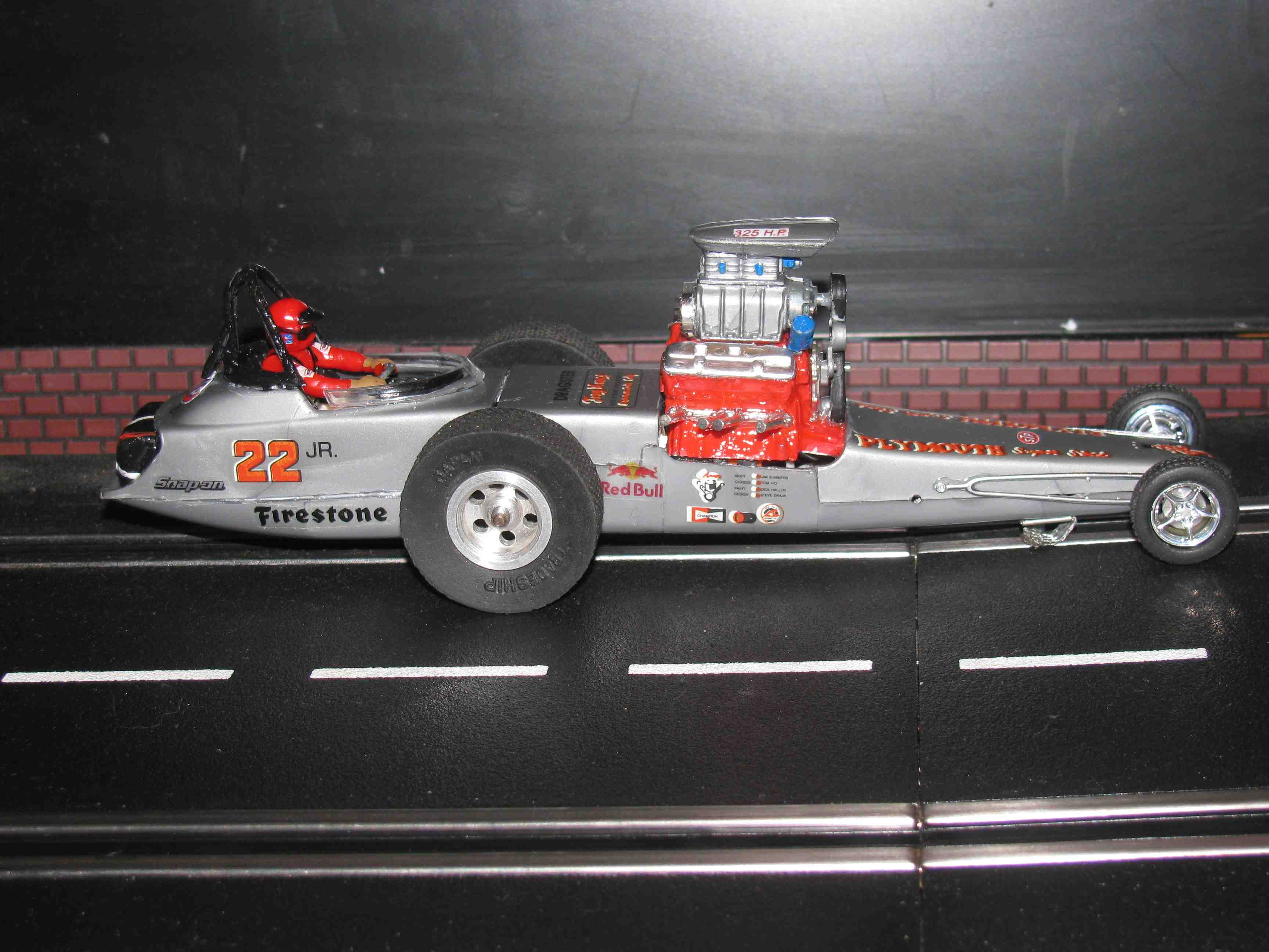 * SOLD * Vintage Revell Tony Nancy 22JR Dragster Slot Car 1/32-1/24 Scale