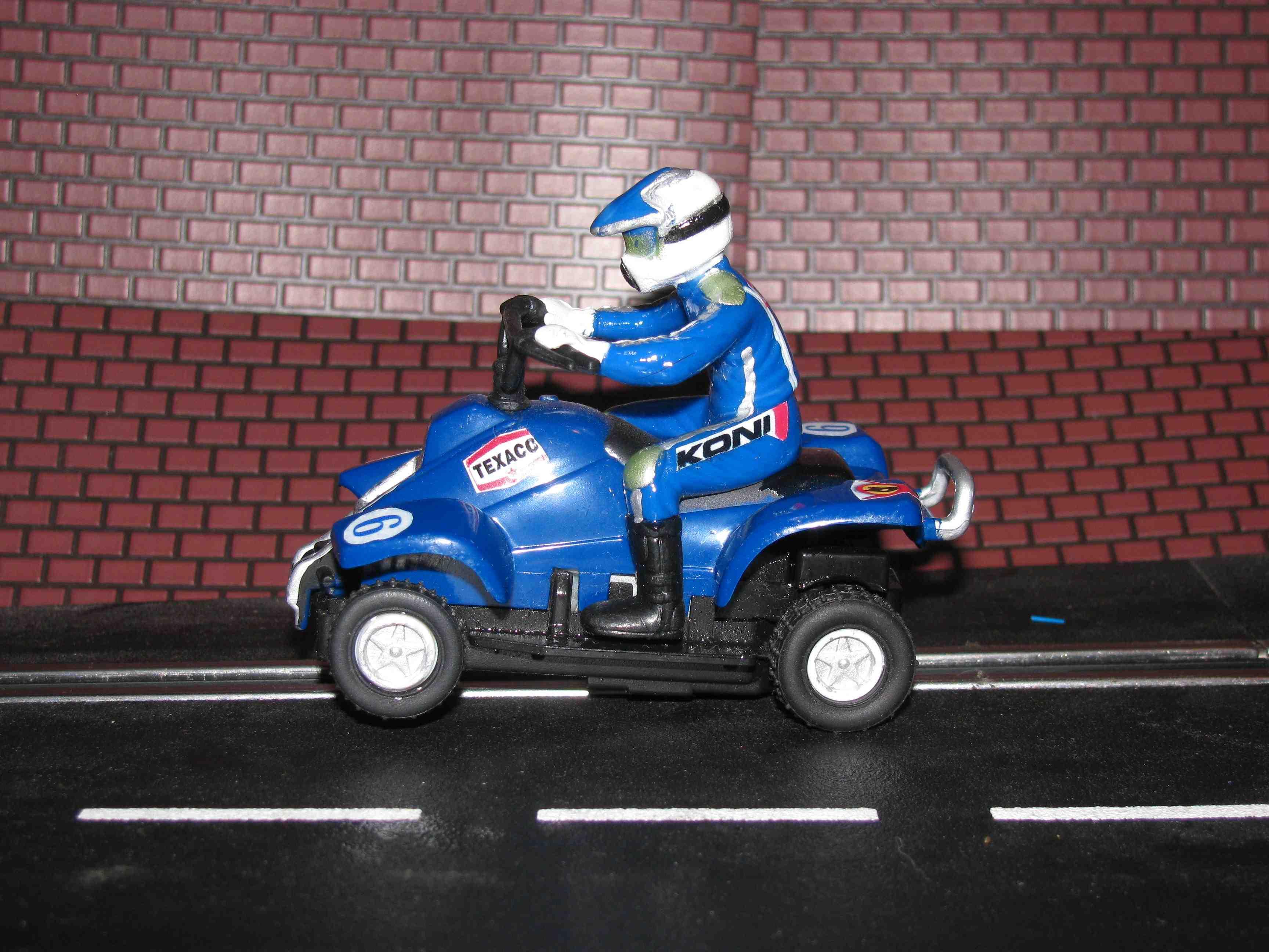 *** SOLD *** Slot Car 1/43 scale QUAD ATV Slot Car Racer #6 – Blue