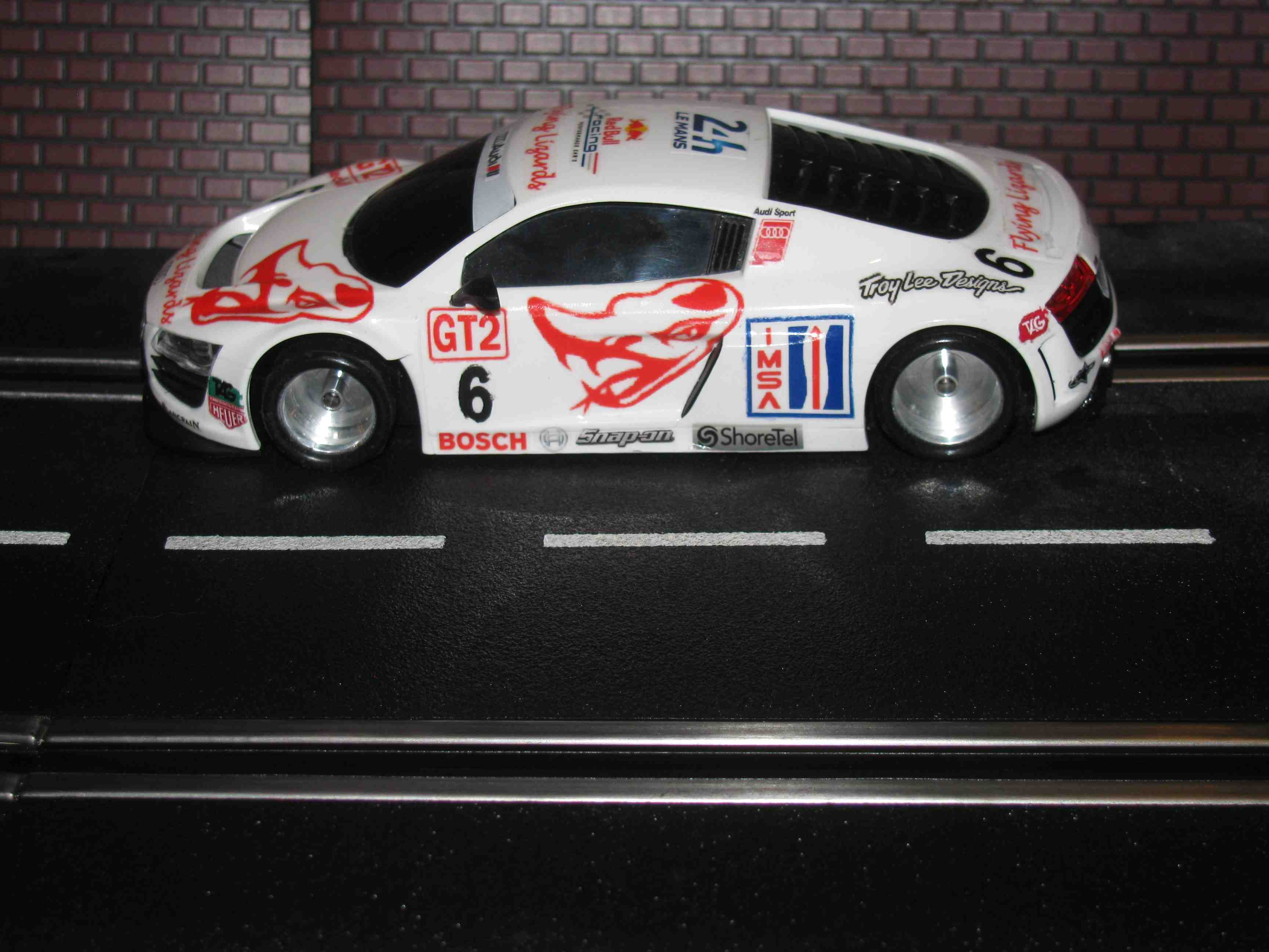 * SOLD * Hornby AUDI R8 GT3 IMSA Racer Slot Car 1/32 Scale – Lots of Customization's
