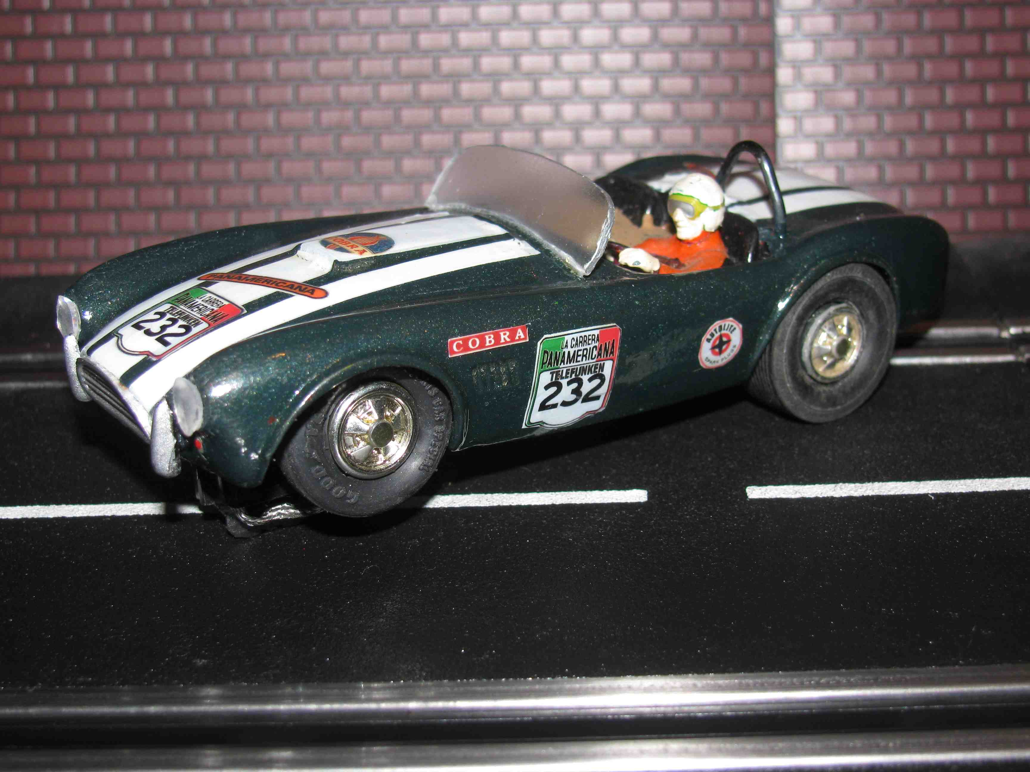 * SOLD * Revell Shelby Cobra Panamericana Slot Car 1/32 Scale – Car 232