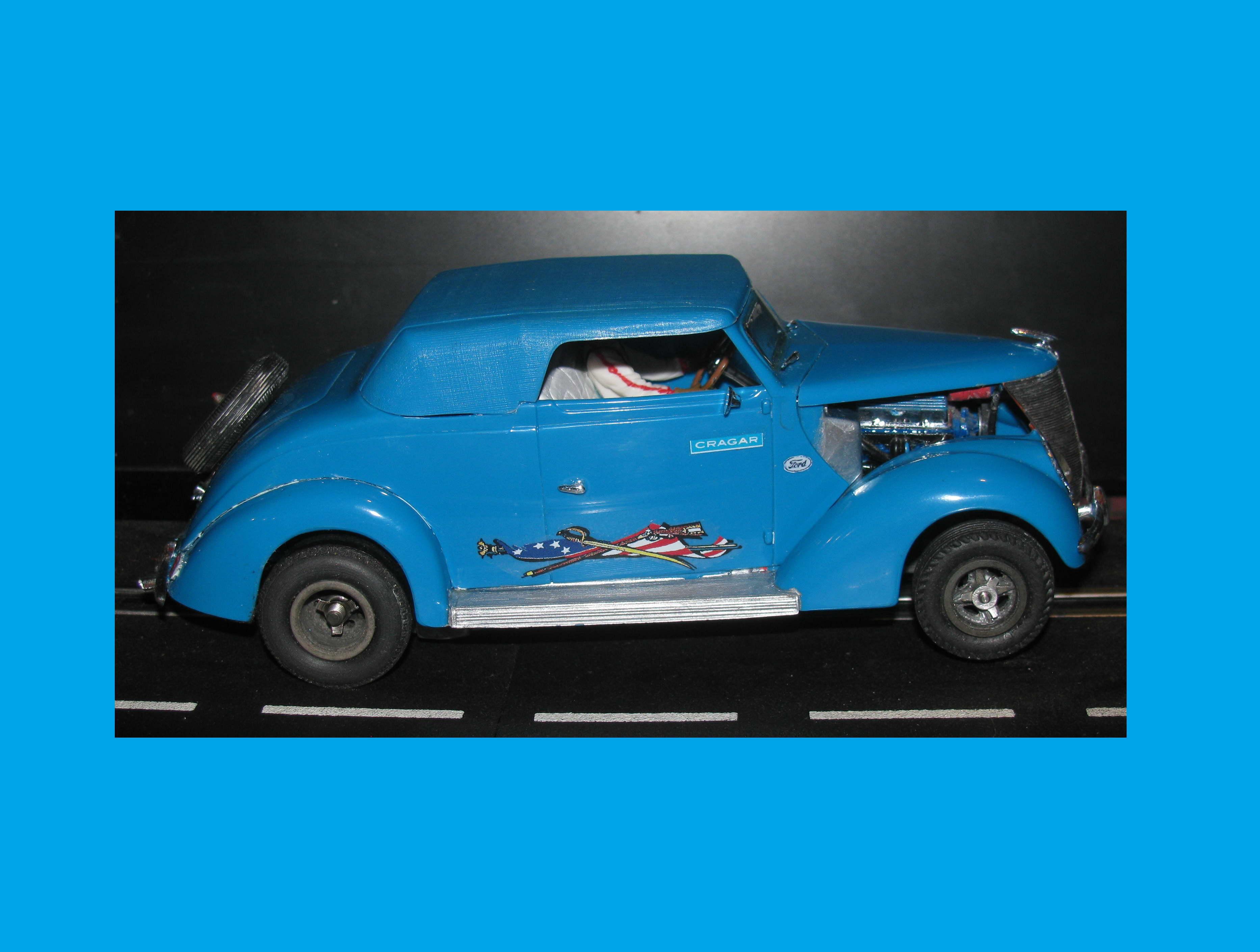 * SUMMER SALE * Vintage 1937 Ford Road Legend Convertible